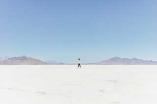 Dry Bonneville Salt Flats