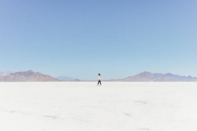 Dry Bonneville Salt Flats in Utah - Best Time
