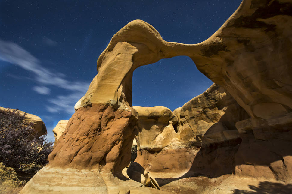 A moonlit arch over Grand Staircase-Escalante