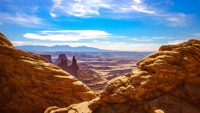 View of the Maze from Island in the Sky at Canyonlands National Park, Utah