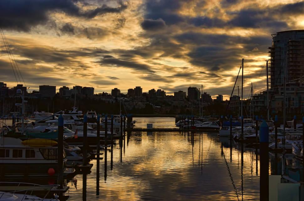 False Creek. Vancouver; mid-February