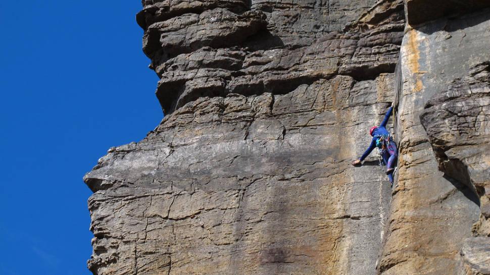 Climbing in the Grampians