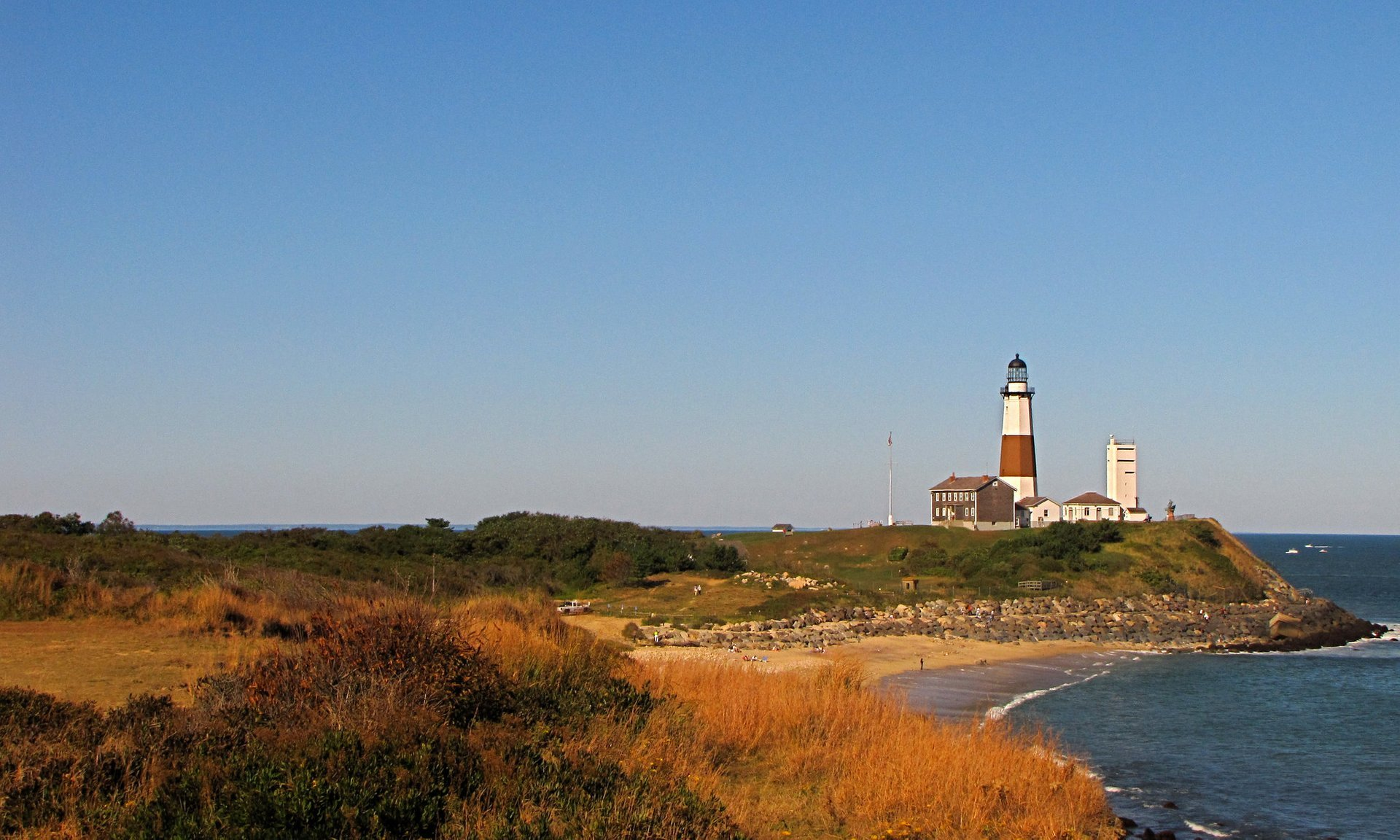 Montauk Point Lighthouse at the easternmost point of Long Island 2020