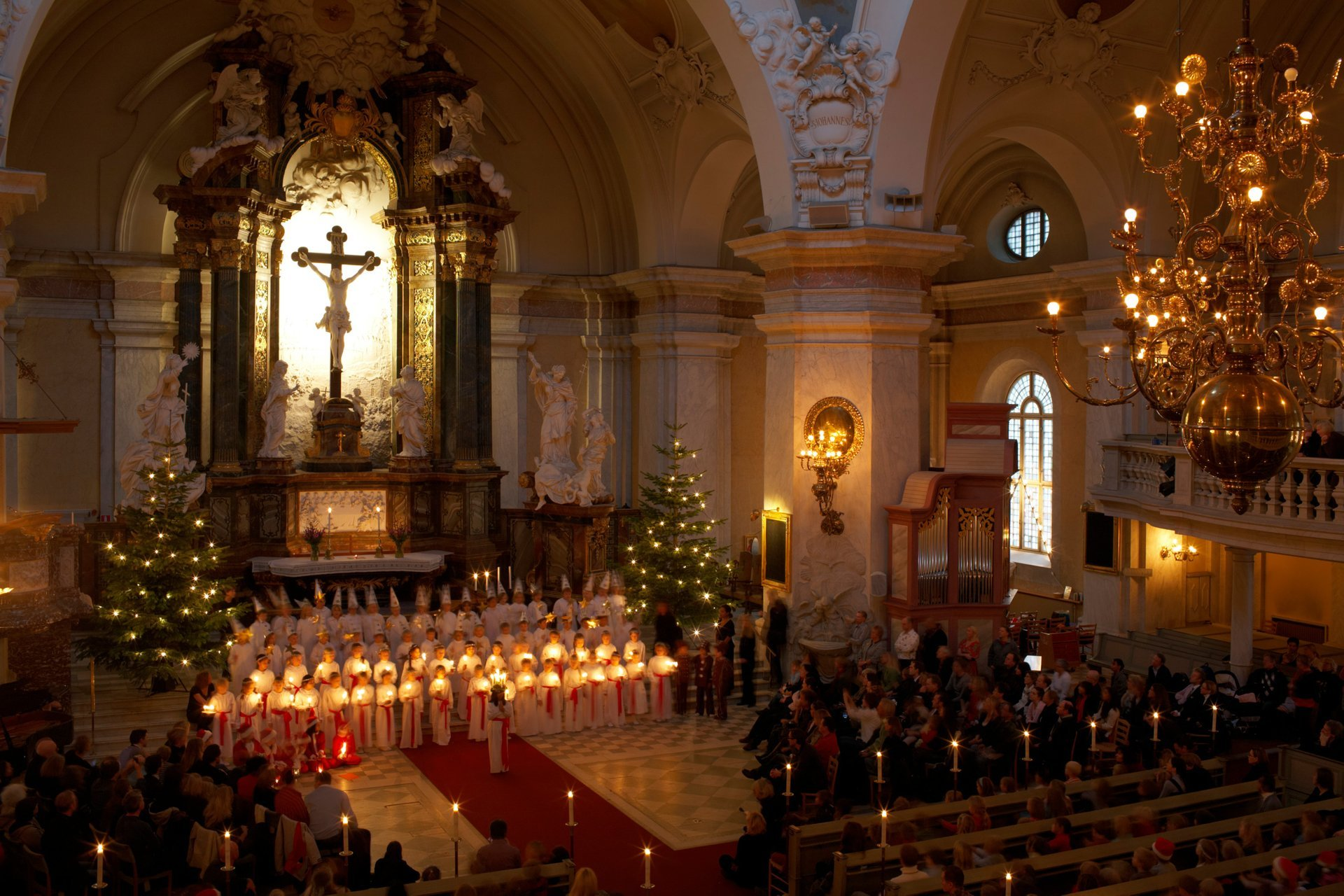 Lucia celebration, Gustav Vasa Church, Stockholm, Sweden 2020