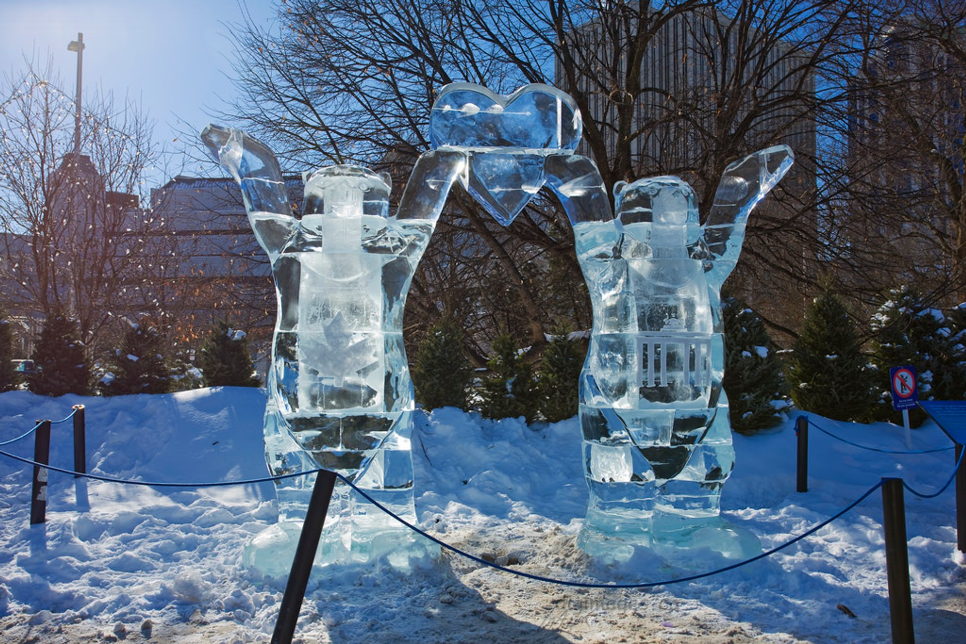 Ice Sculptures at Winterlude in Confederation Park 2020