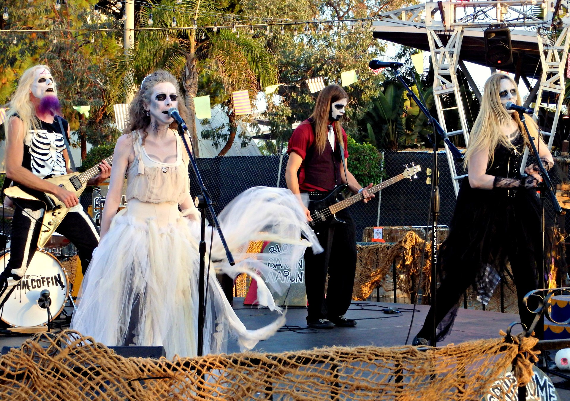 The Rhythm Coffin playing at Queen Mary's Dark Harbor 2020