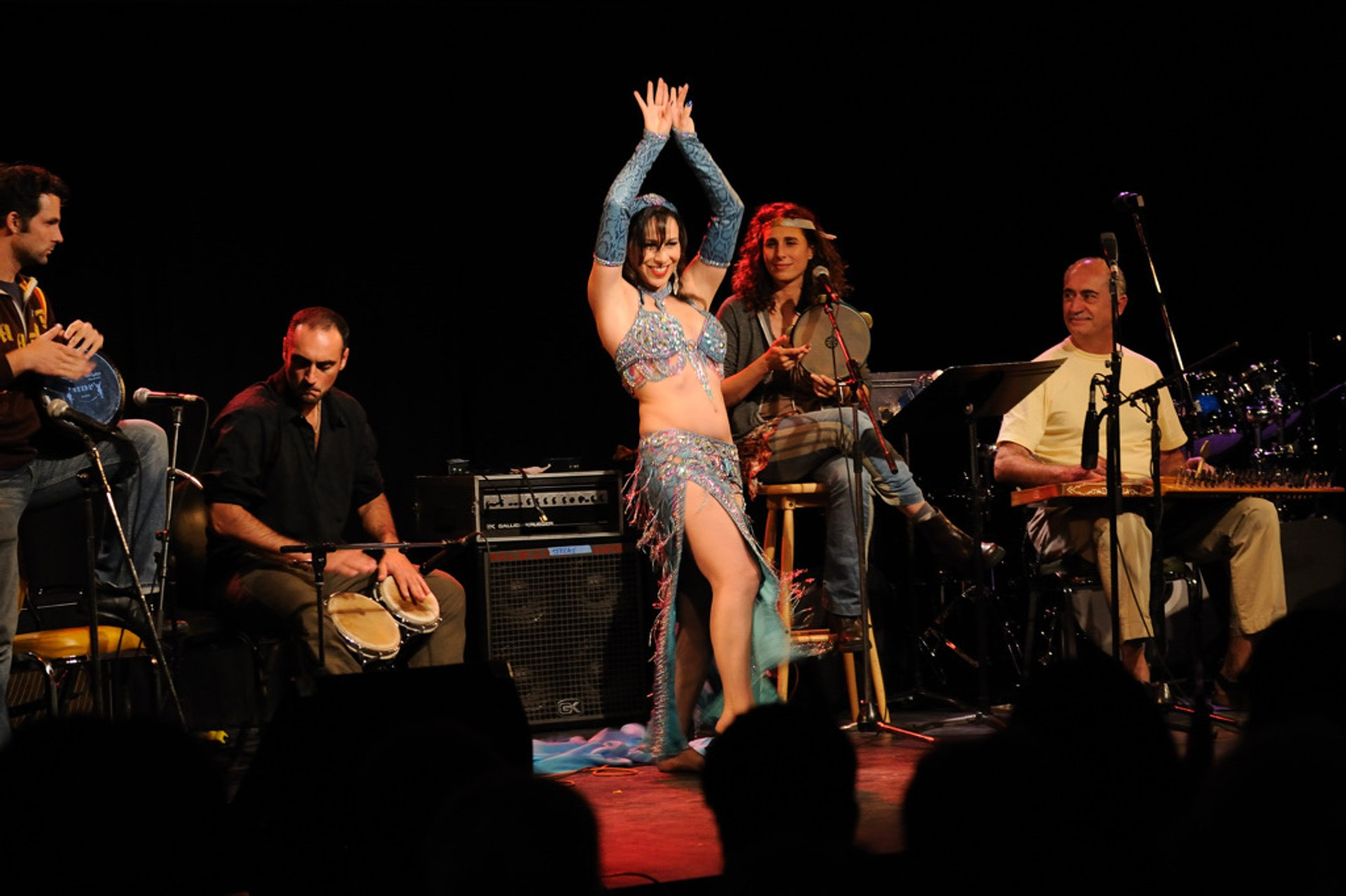 Drorit Weiss dancing at the Sephardic Cabaret of the Ashkenaz Festival 2020