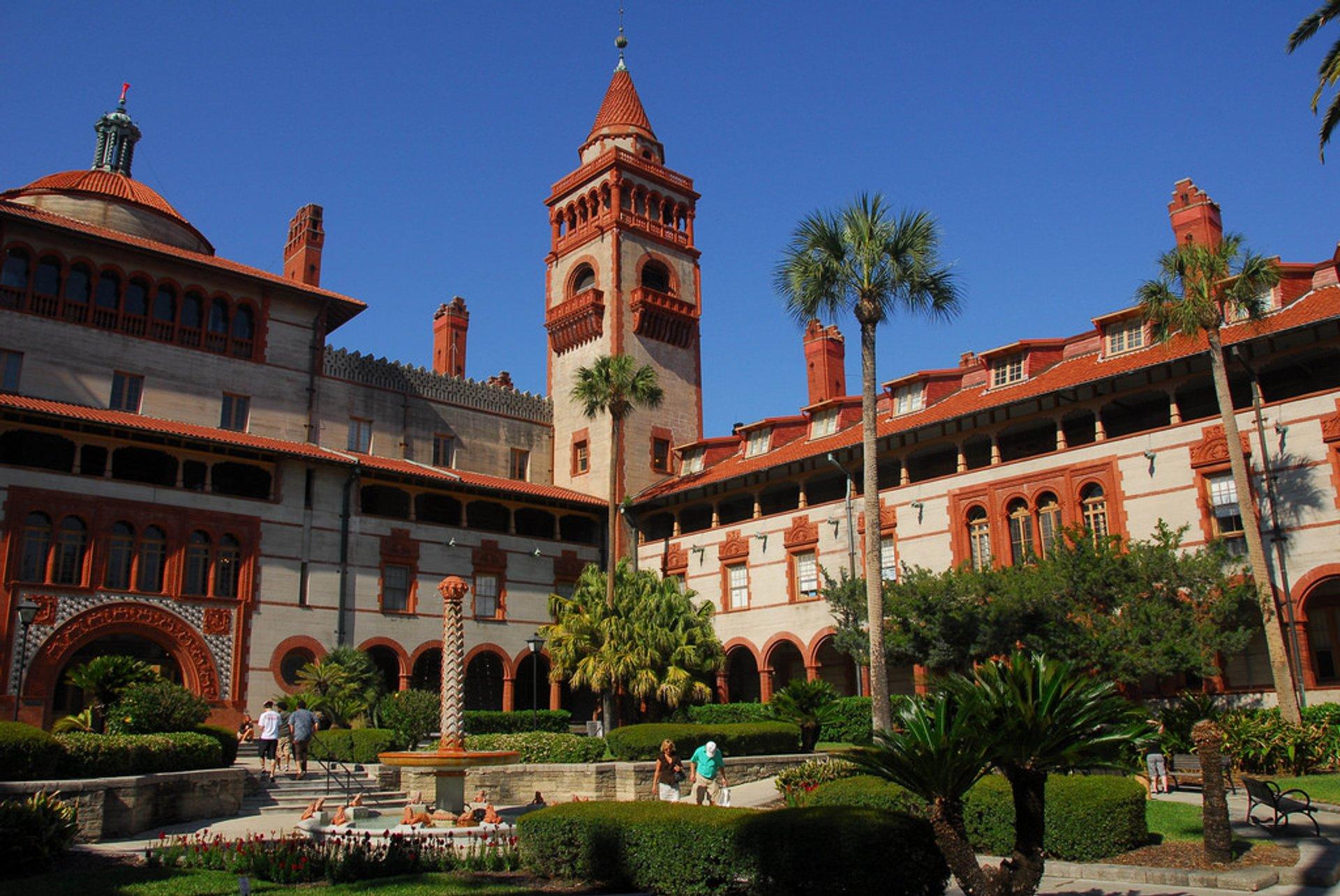Best time for Ponce de Leon Hotel (Flagler College) in Florida 2020
