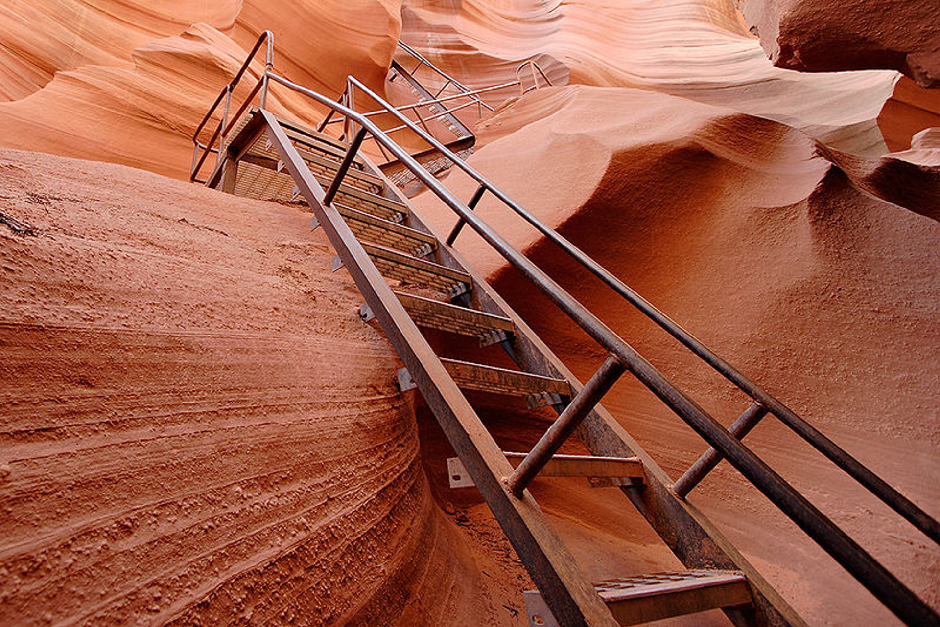 Just some of the stairs leading out of Lower Antelope Canyon 2020