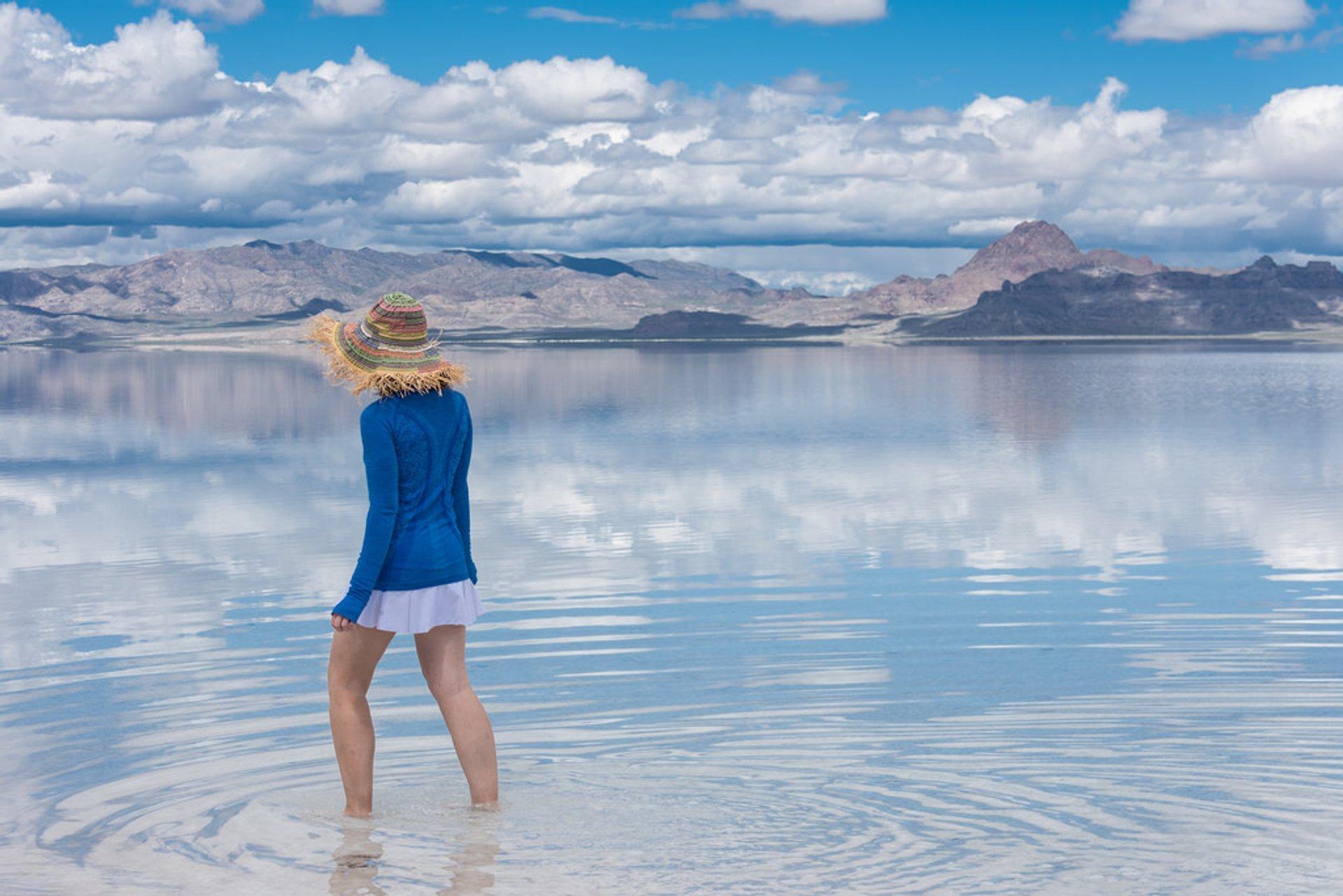 Flooded Bonneville Salt Flats in Utah - Best Season 2020