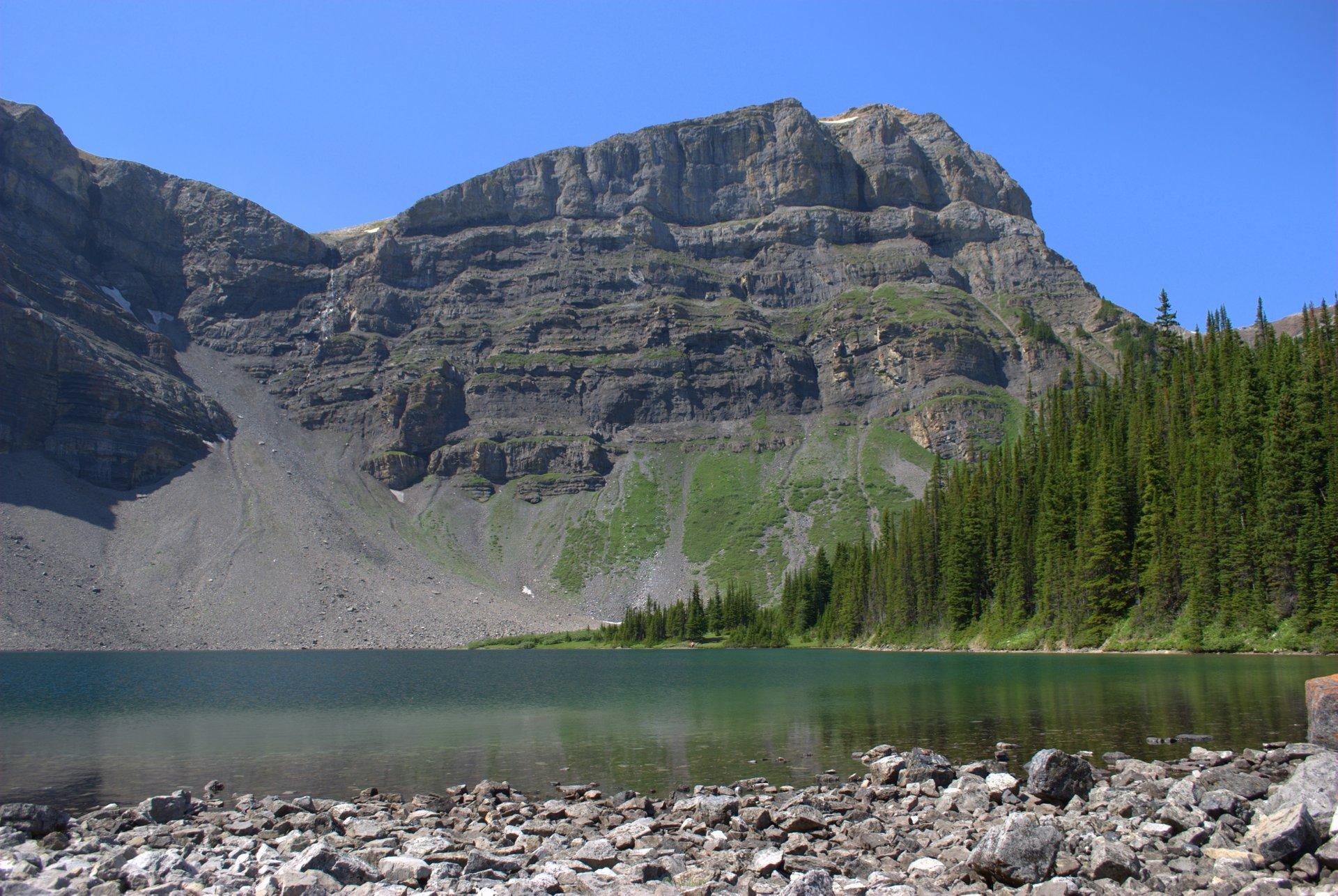 Mt. Bourgeau and Lake Bourgeau 2020
