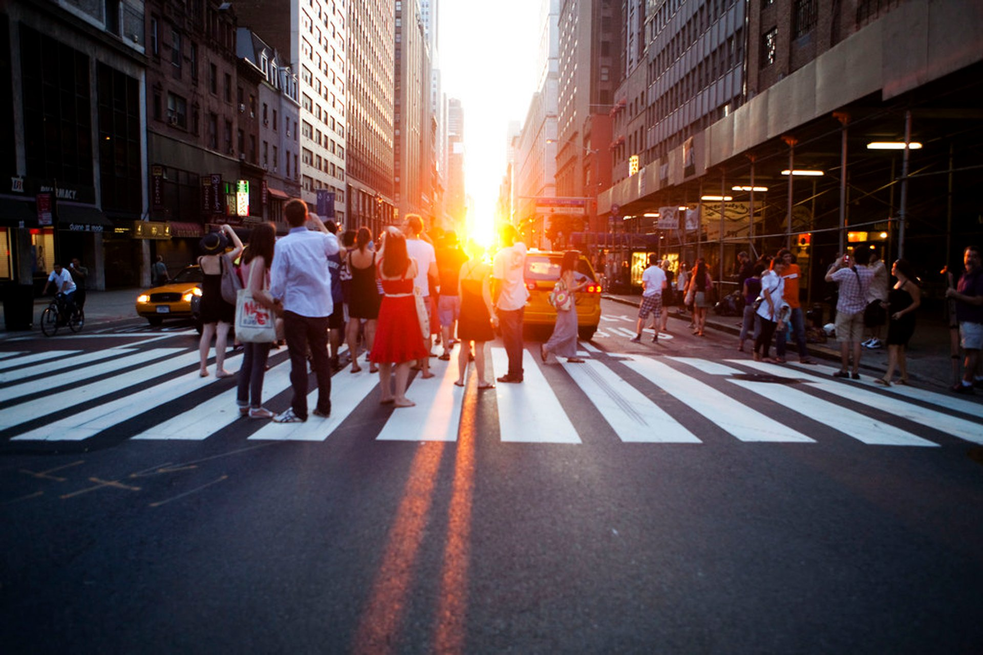 Best time for Manhattanhenge in New York