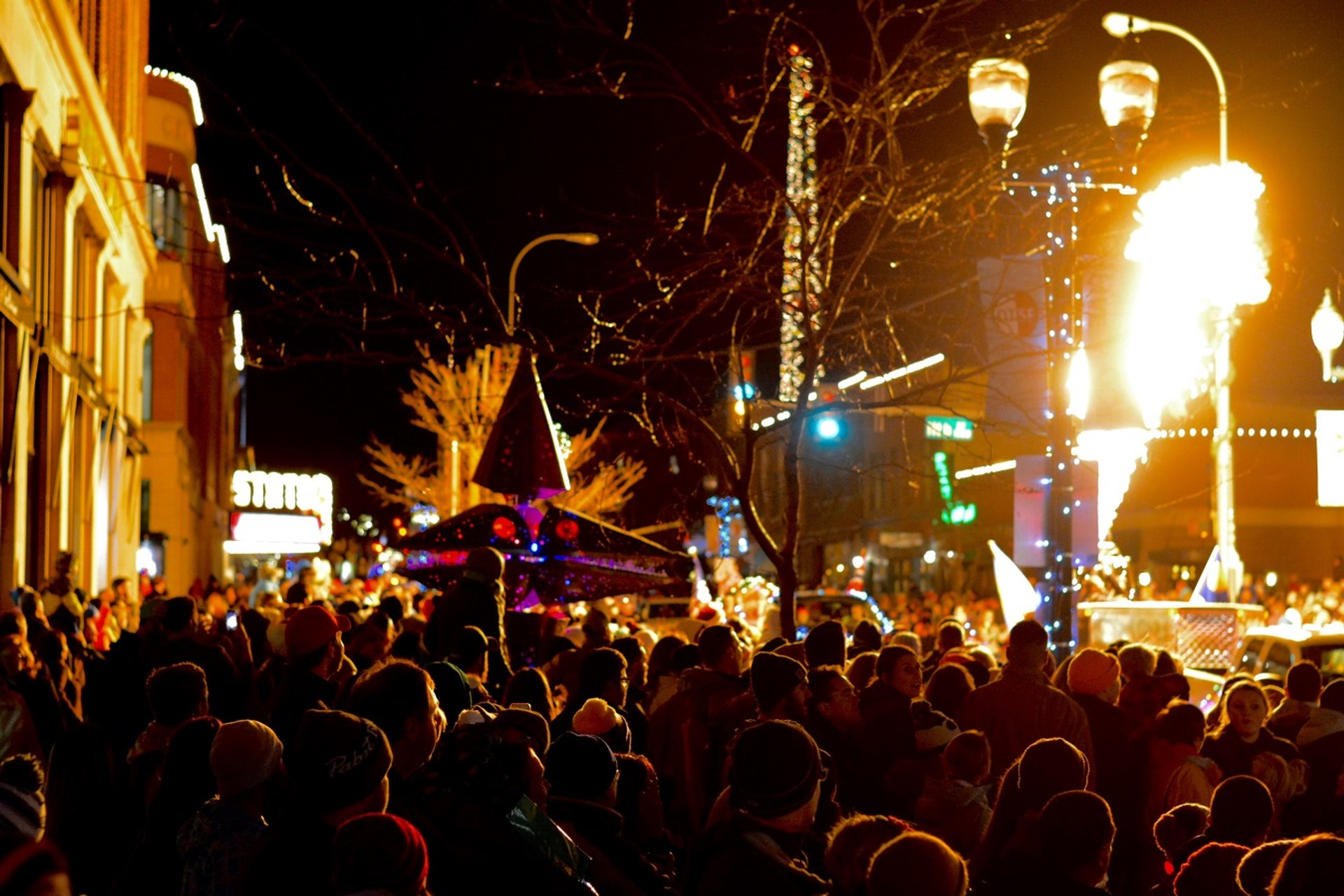 Best time to see Sioux Falls Parade of Lights in South Dakota 2020