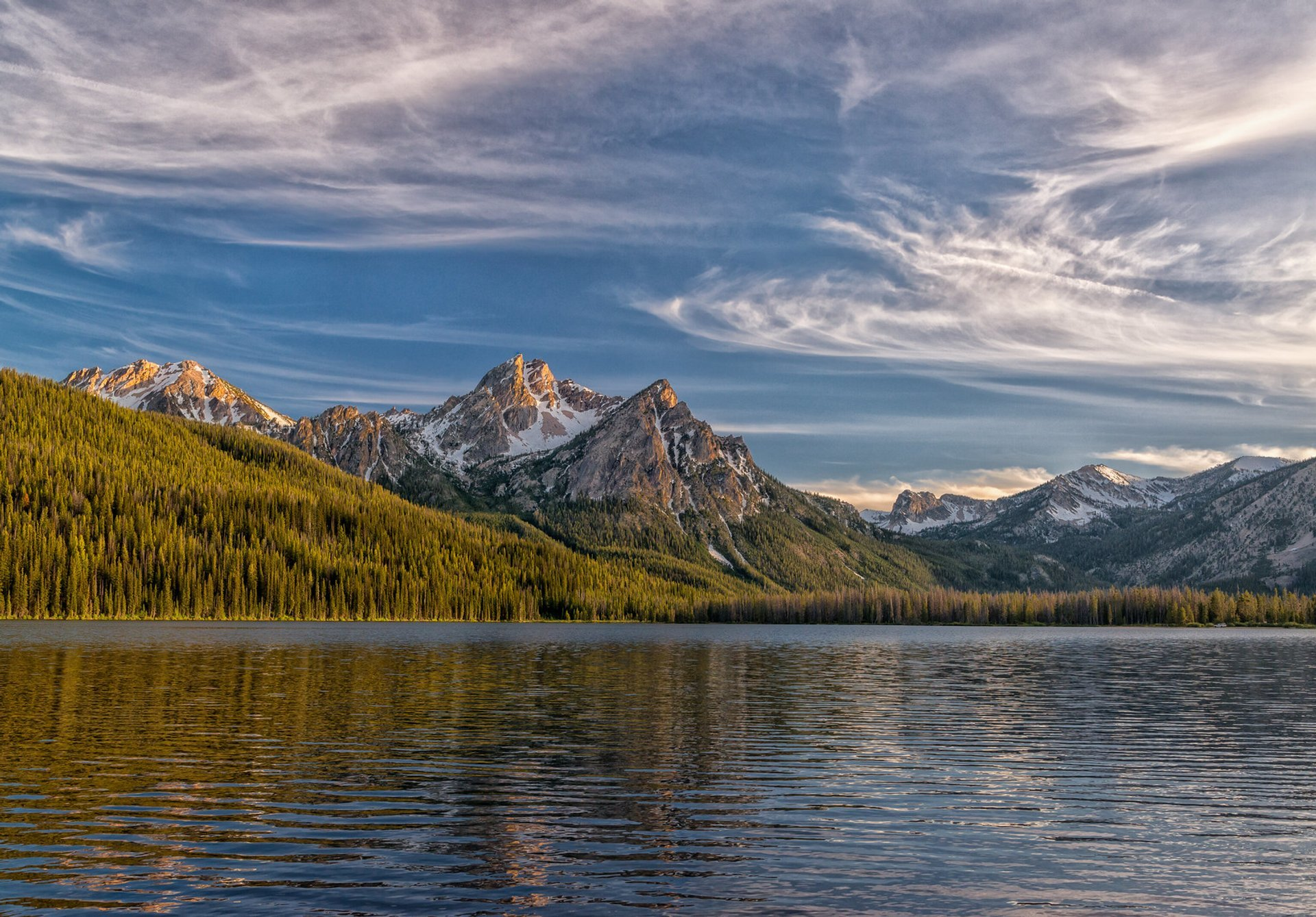 Mt. McGown, one of the many impressive peaks in the Sawtooth range. Taken at Stanley Lake. 2020