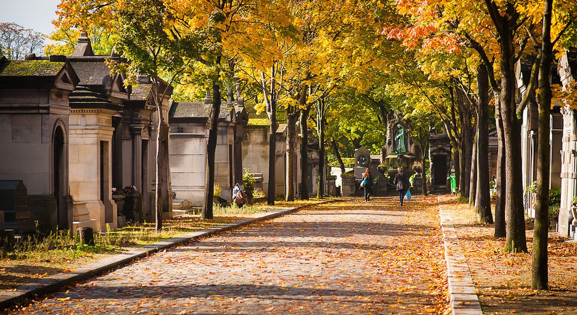 Autumnal Père Lachaise Cemetery in Paris 2020 - Best Time