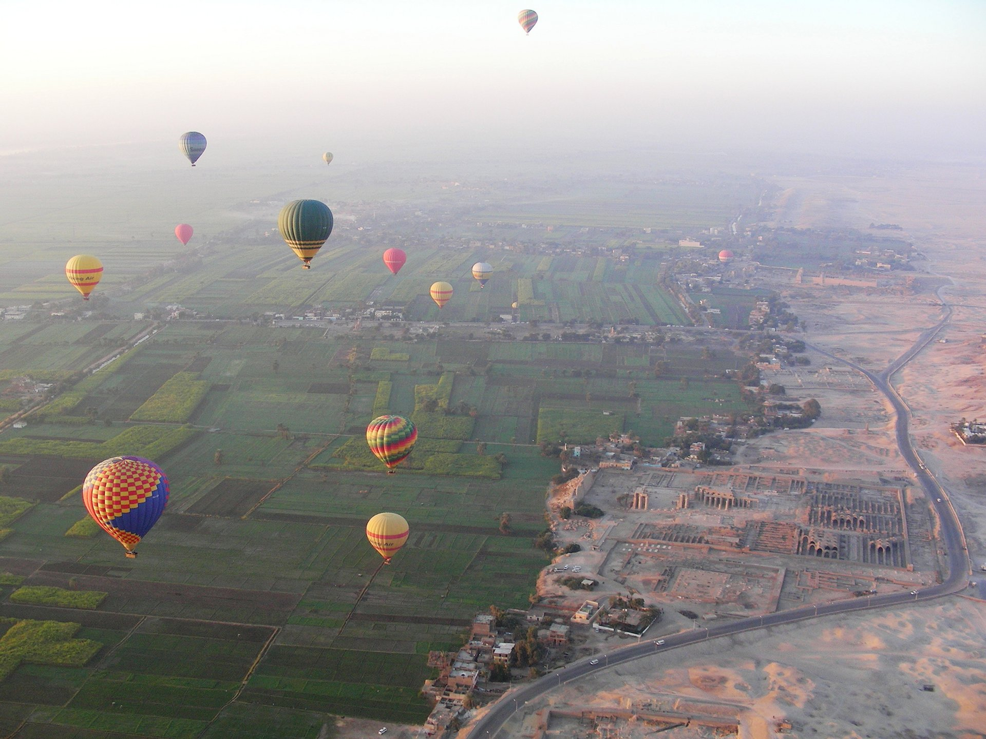 Best time to see Hot Air Balloon Festival in Luxor in Egypt 2020