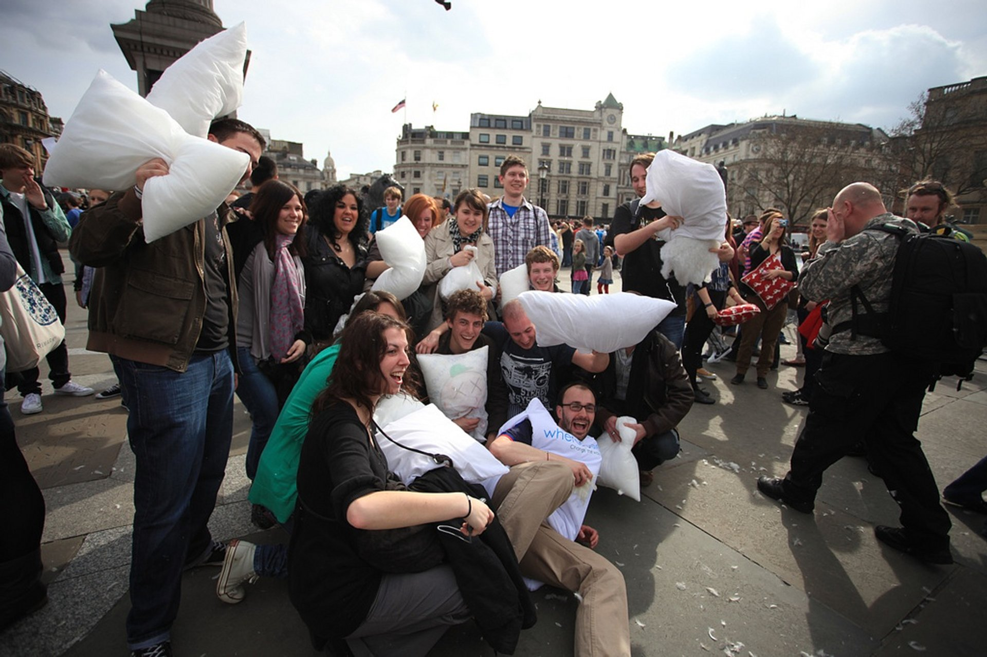 Best time to see International Pillow Fight Day in London 2020
