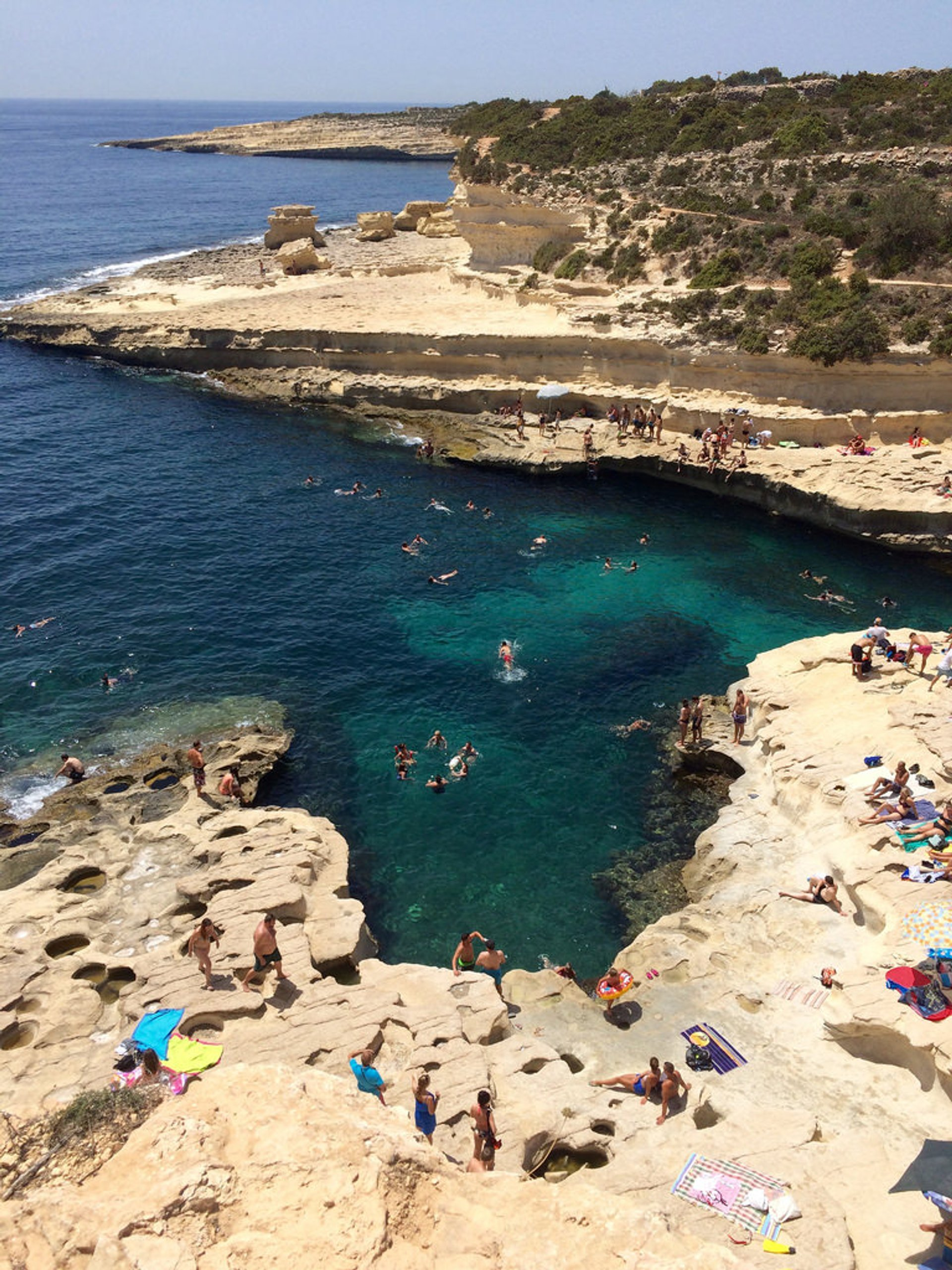 Swimming at Saint Peter's Pool in Malta - Best Season 2020