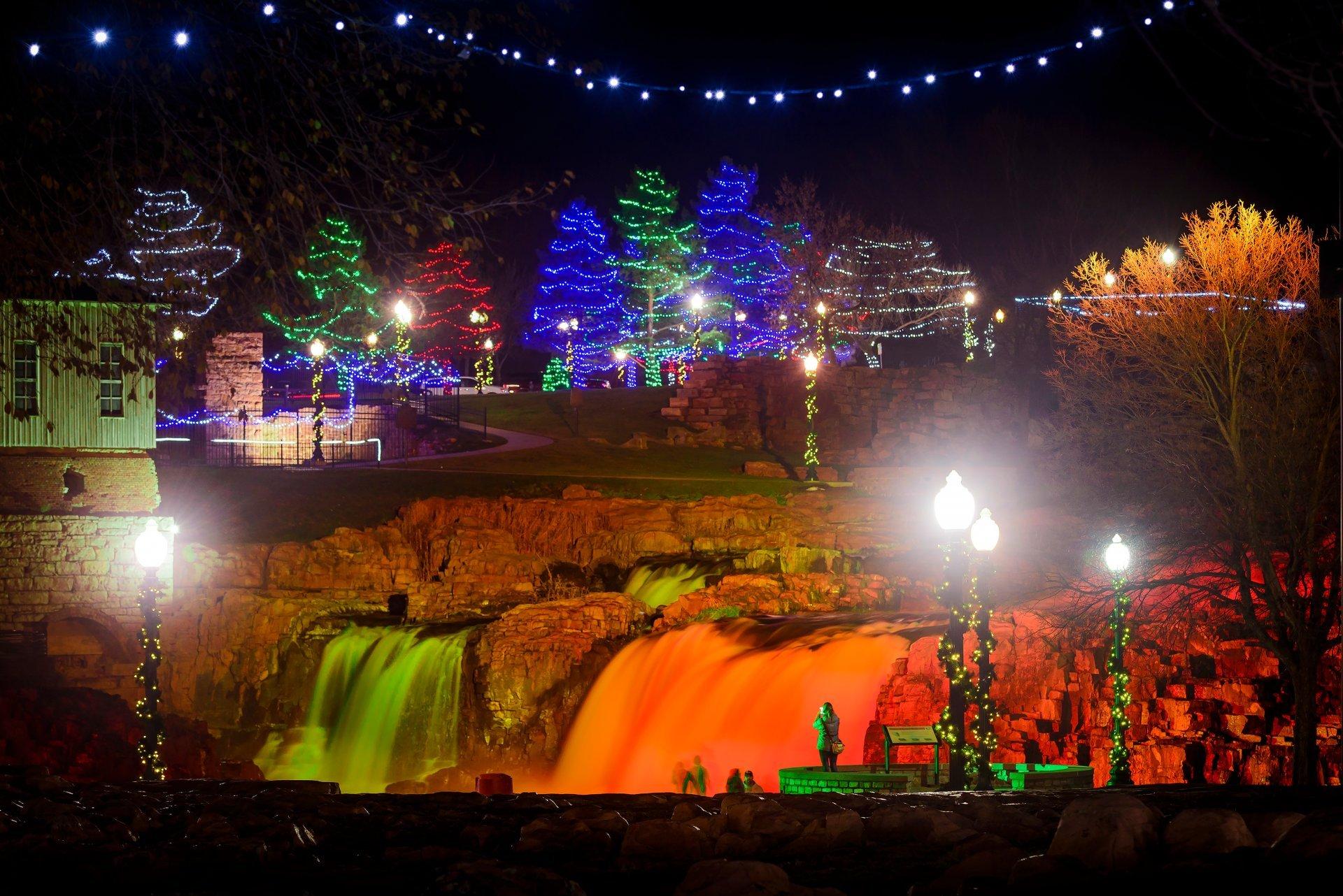 Winter Wonderland at Falls Park in South Dakota - Best Season 2020
