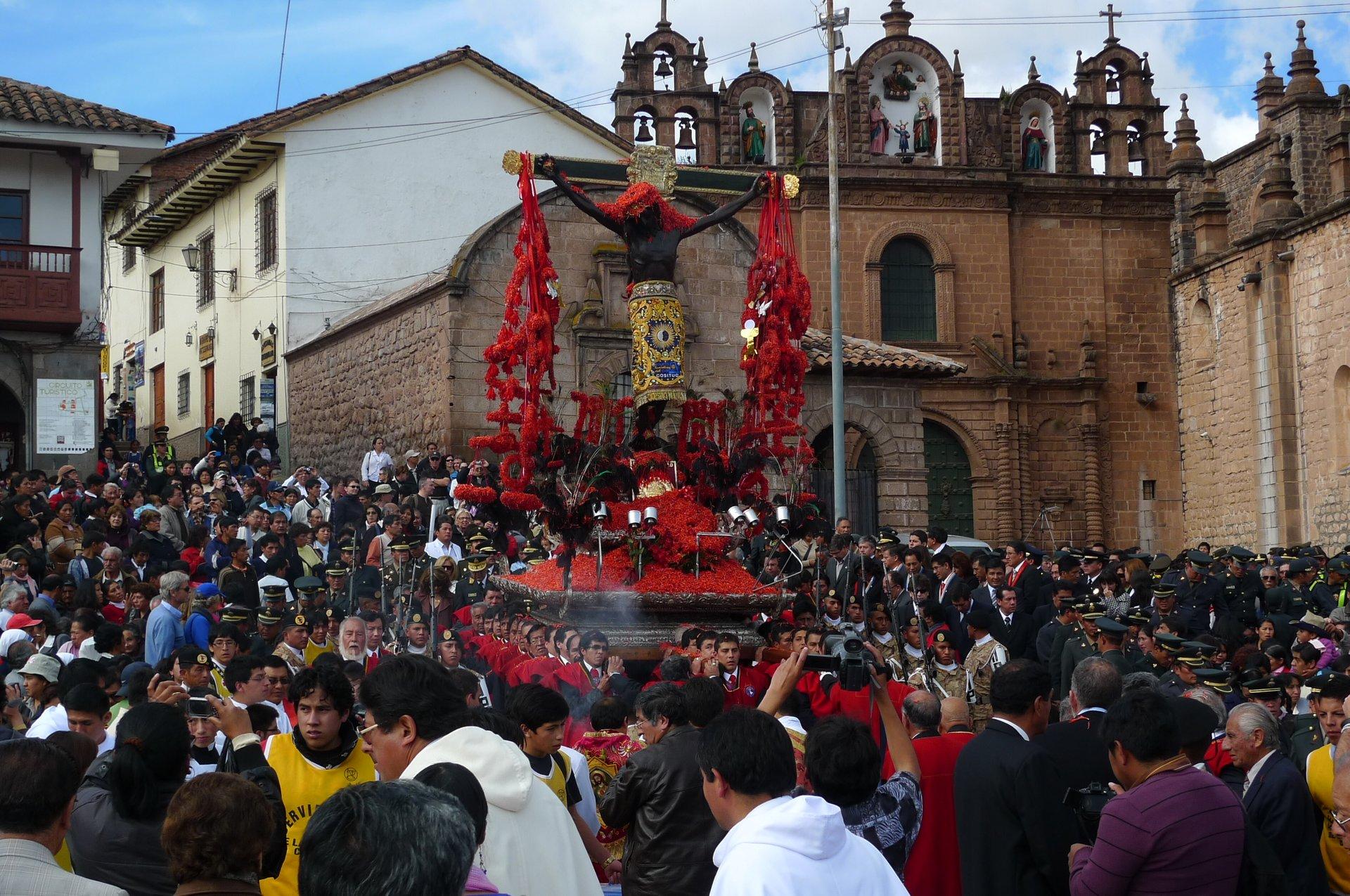 Procession of Senor de Los Temblores - Cusco, Peru 2020