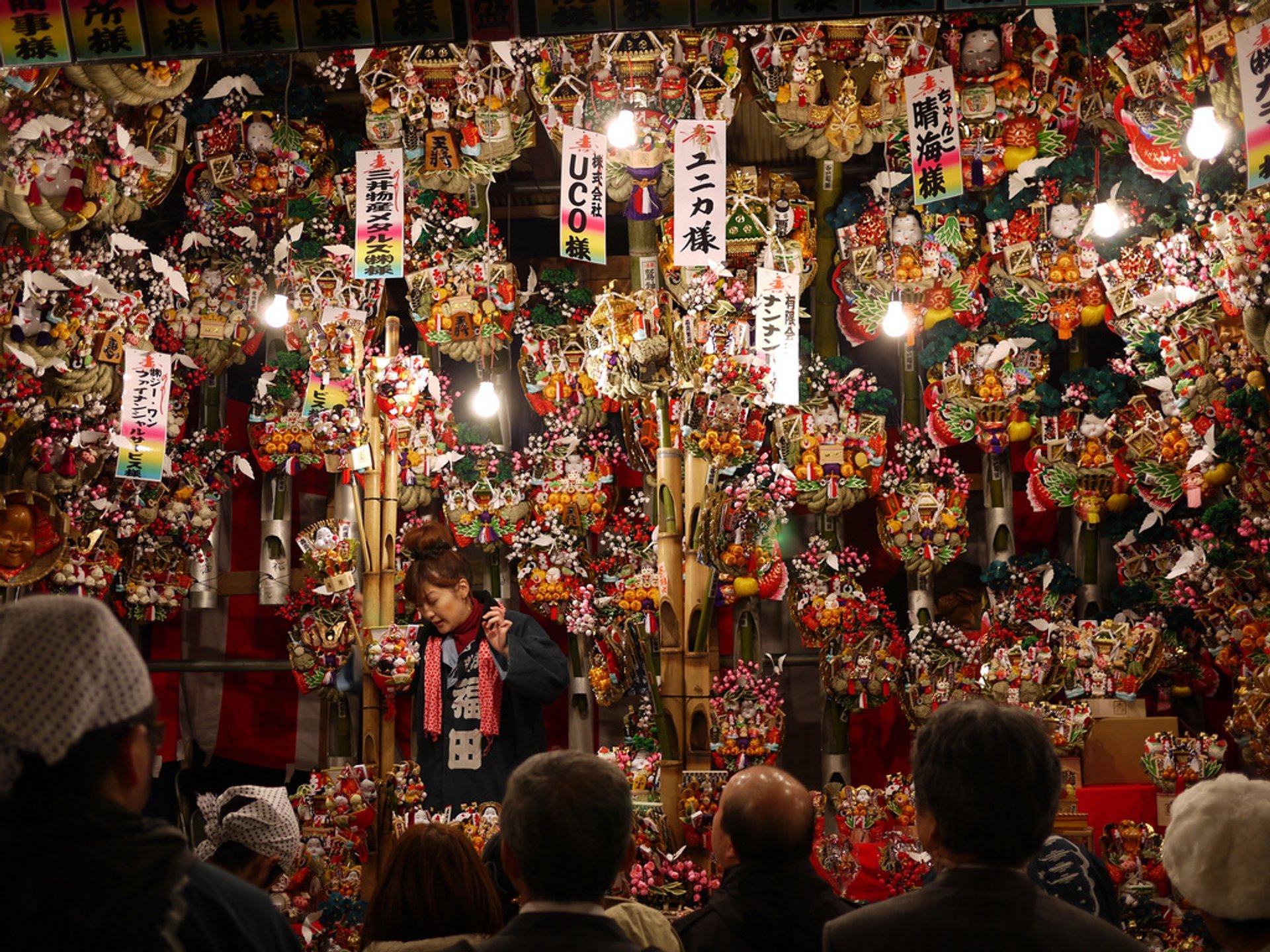 Best time for Asakusa Tori No Ichi Fair in Tokyo 2020