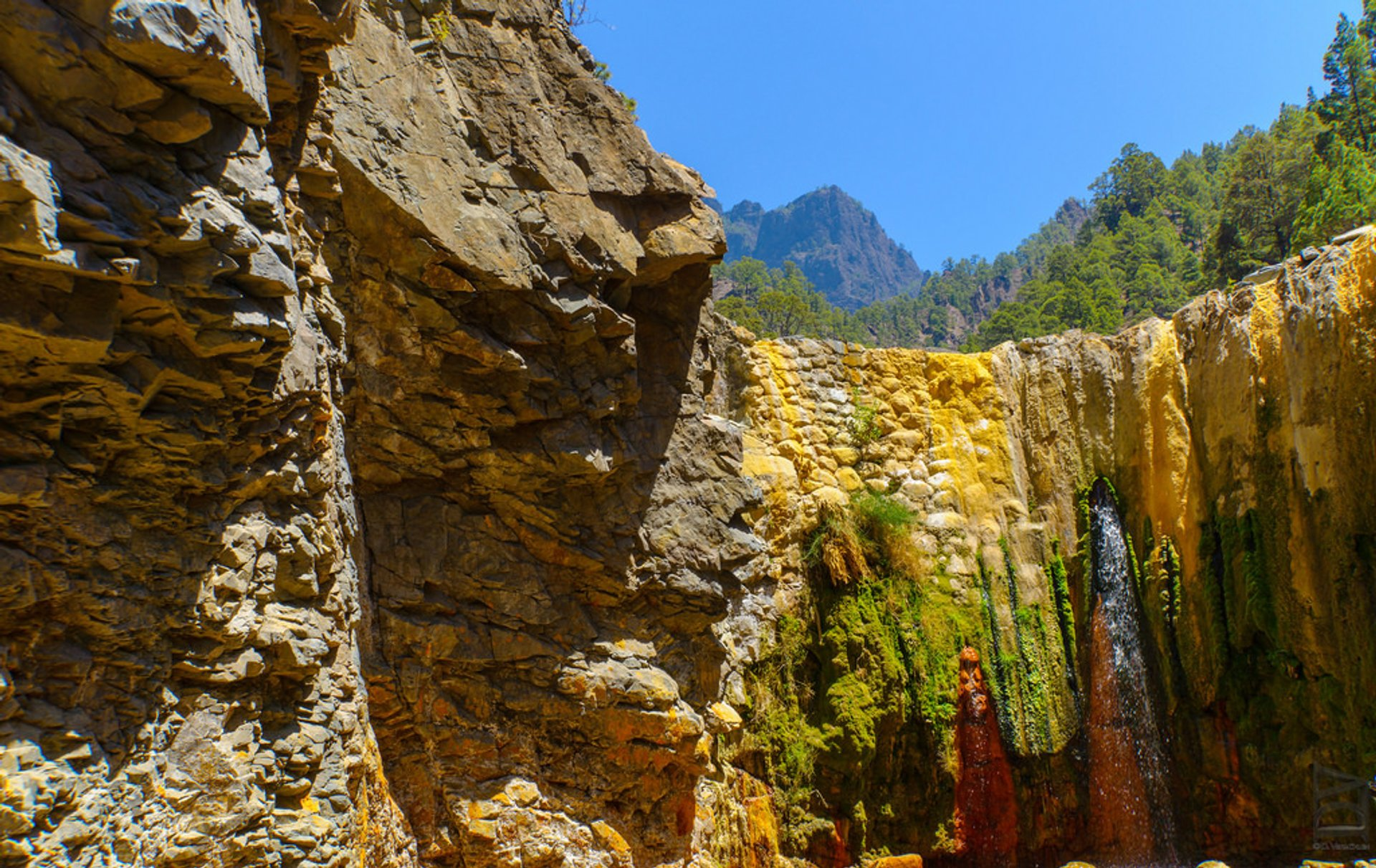 Cascade of Colours in Caldera de Taburiente in Canary Islands - Best Season 2020