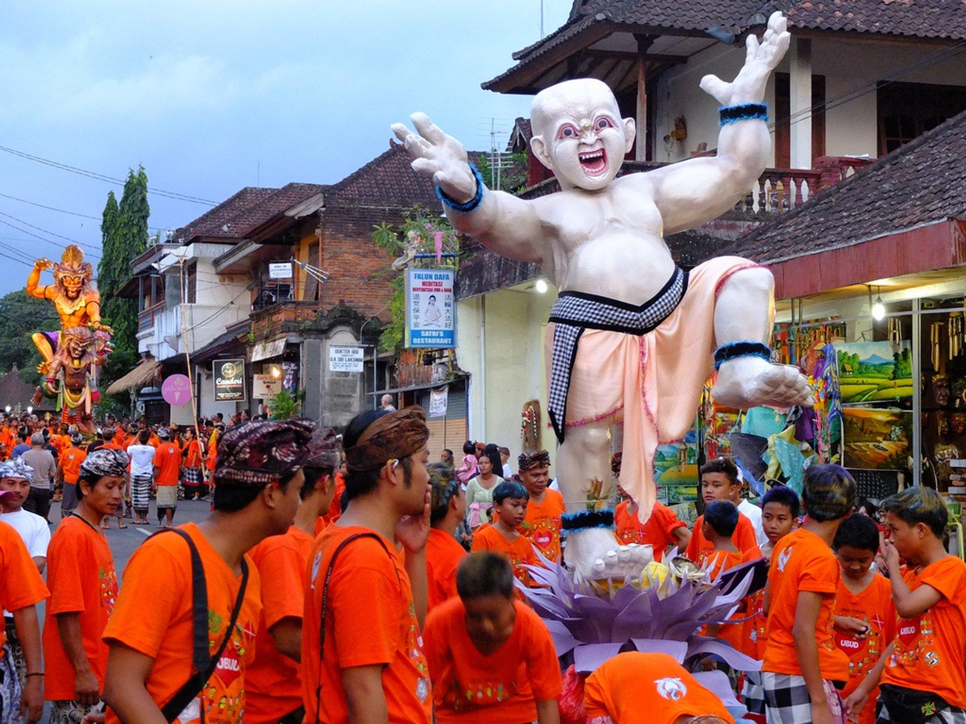 Nyepi; Balinese New Year in Ubud, Bali 2020