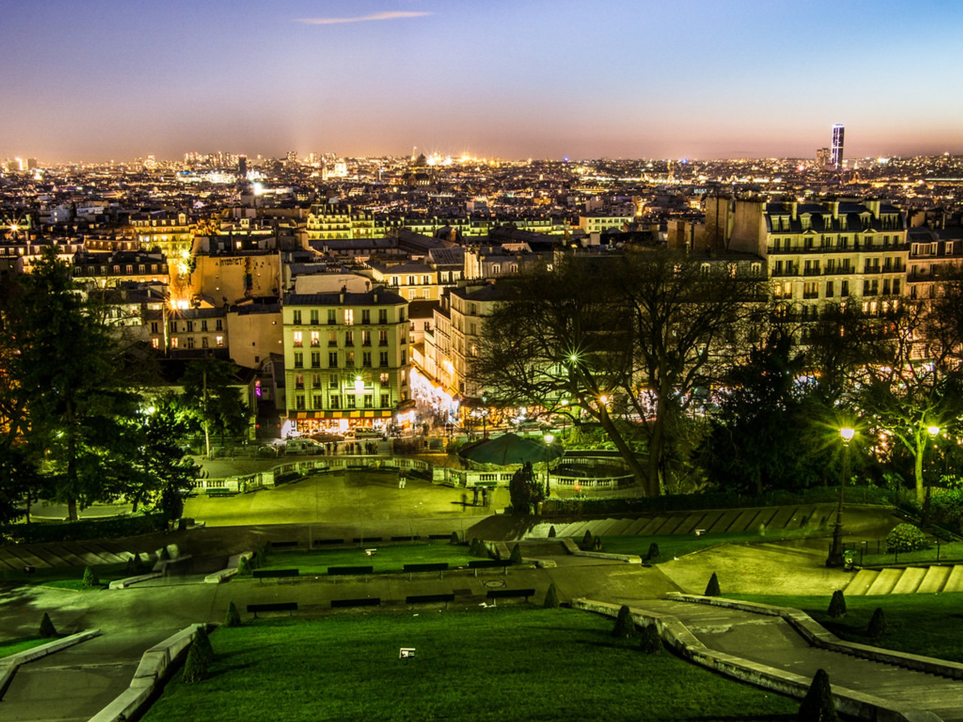 The view from the hill of Sacré-Cœur Basilica 2020