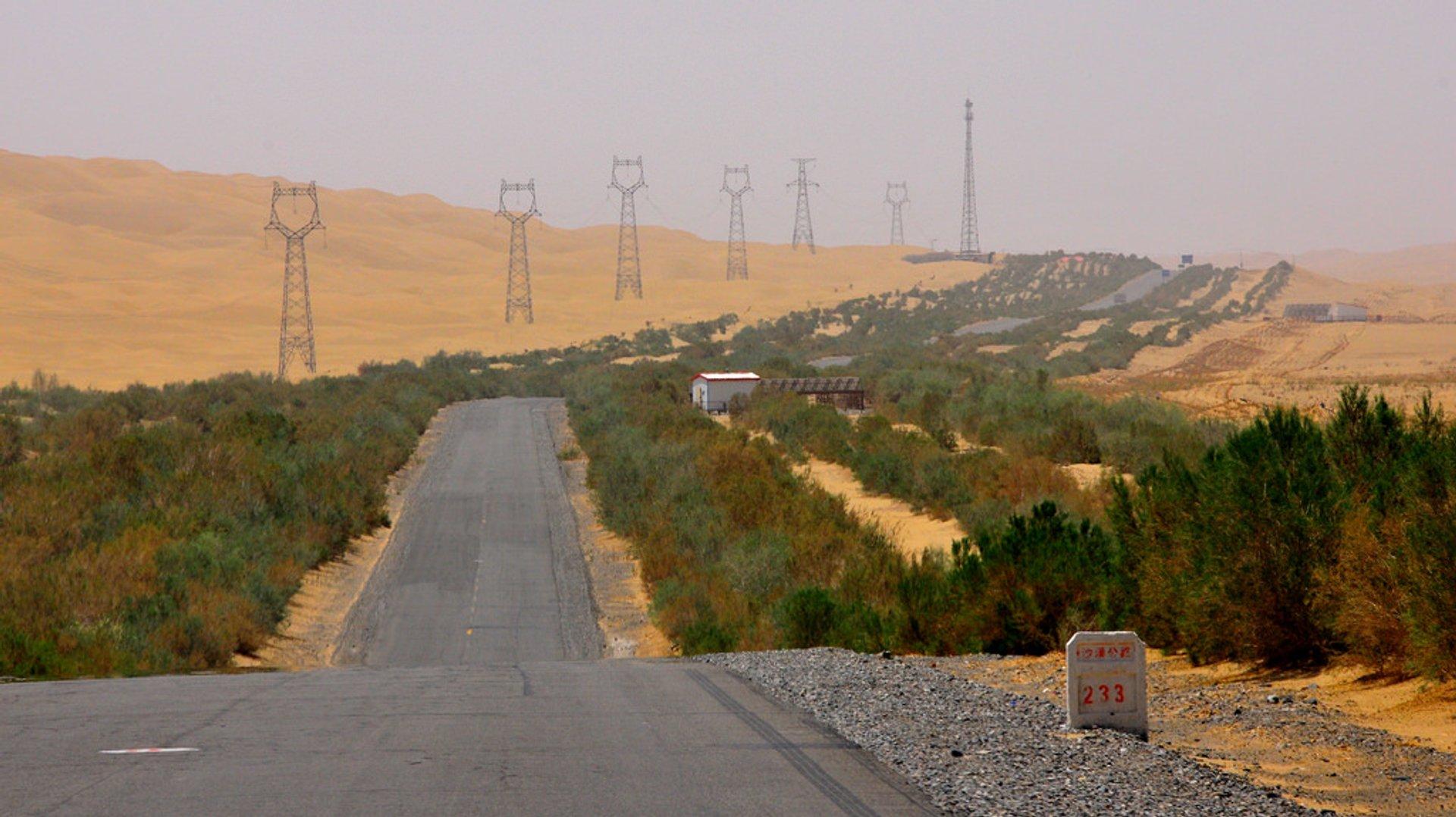 Tarim Desert Highway in China 2019 - Best Time