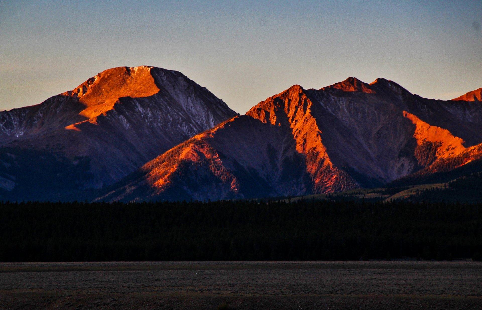 Mt. Elbert and Mt. Massive, Sunrise 2020