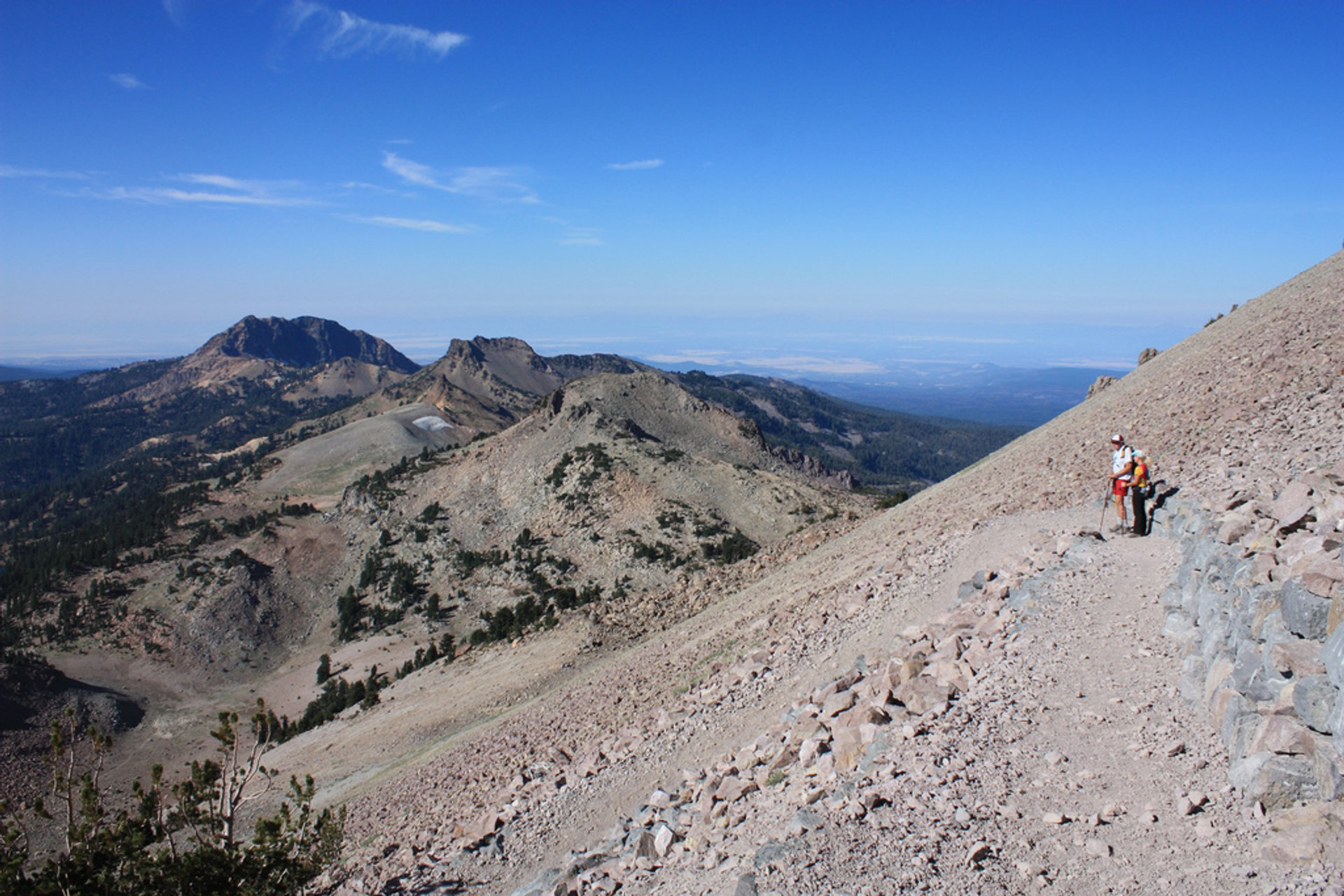 Hikers on Lassen Peak Trail, Lassen Volcanic National Park 2019
