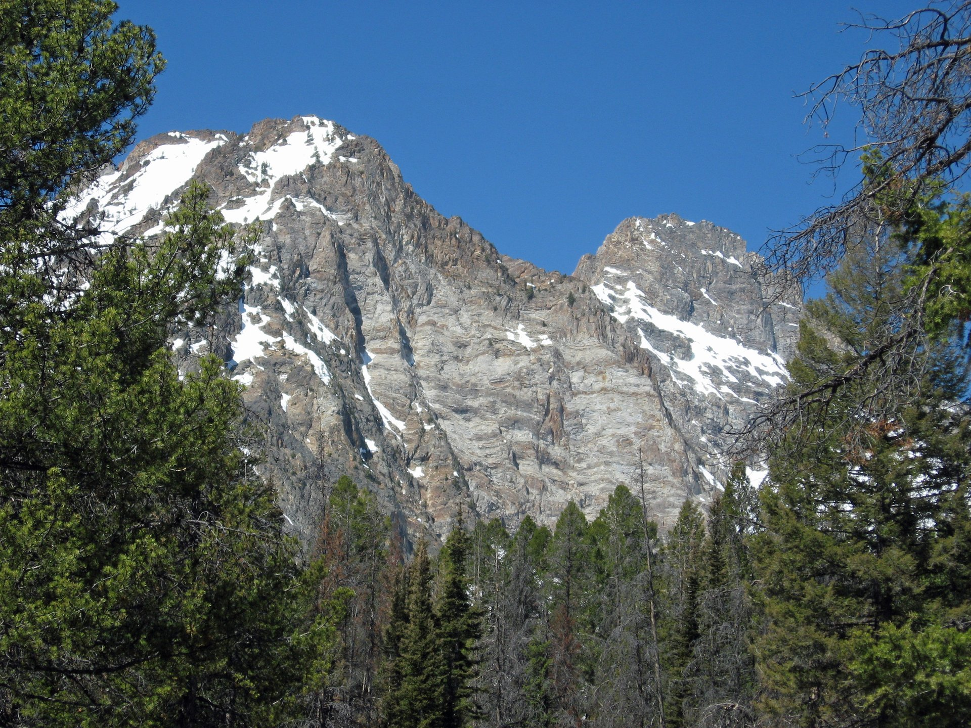Thompson Peak in Idaho as viewed from the Alpine Way Trail in Sawtooth National Recreation Area in Custer County, Idaho 2020