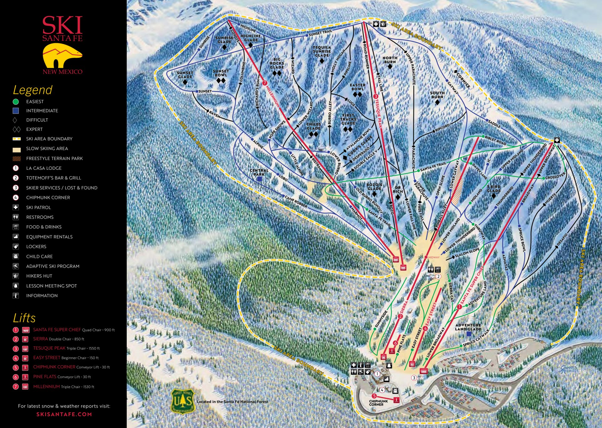 Best time for Skiing and Snowboarding in New Mexico 2020