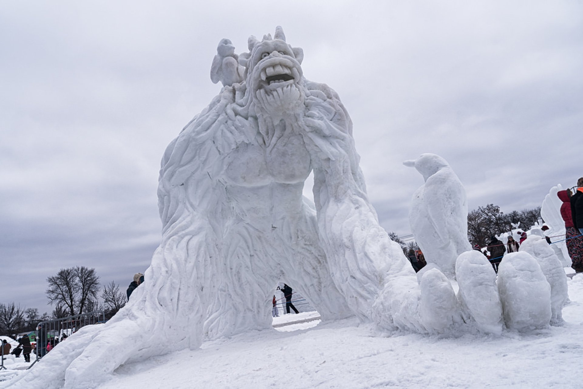 Yeti Playground by Team Yeti, Minnesota State Snow Sculpting Competition at the Minnesota State Fairgrounds 2020
