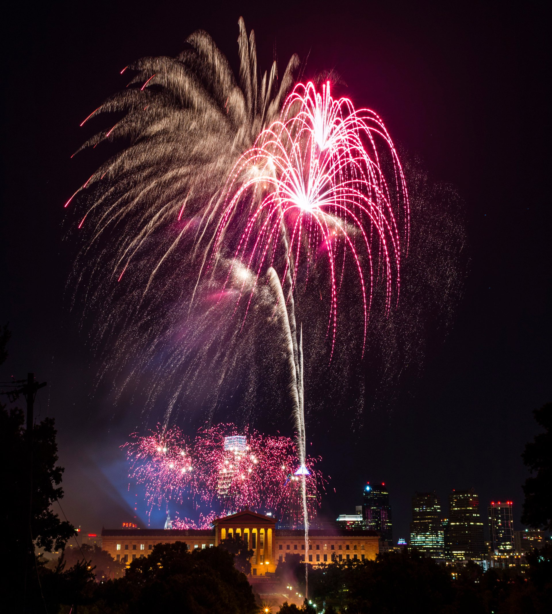 Fireworks over the Art Museum in Philadelphia 2020