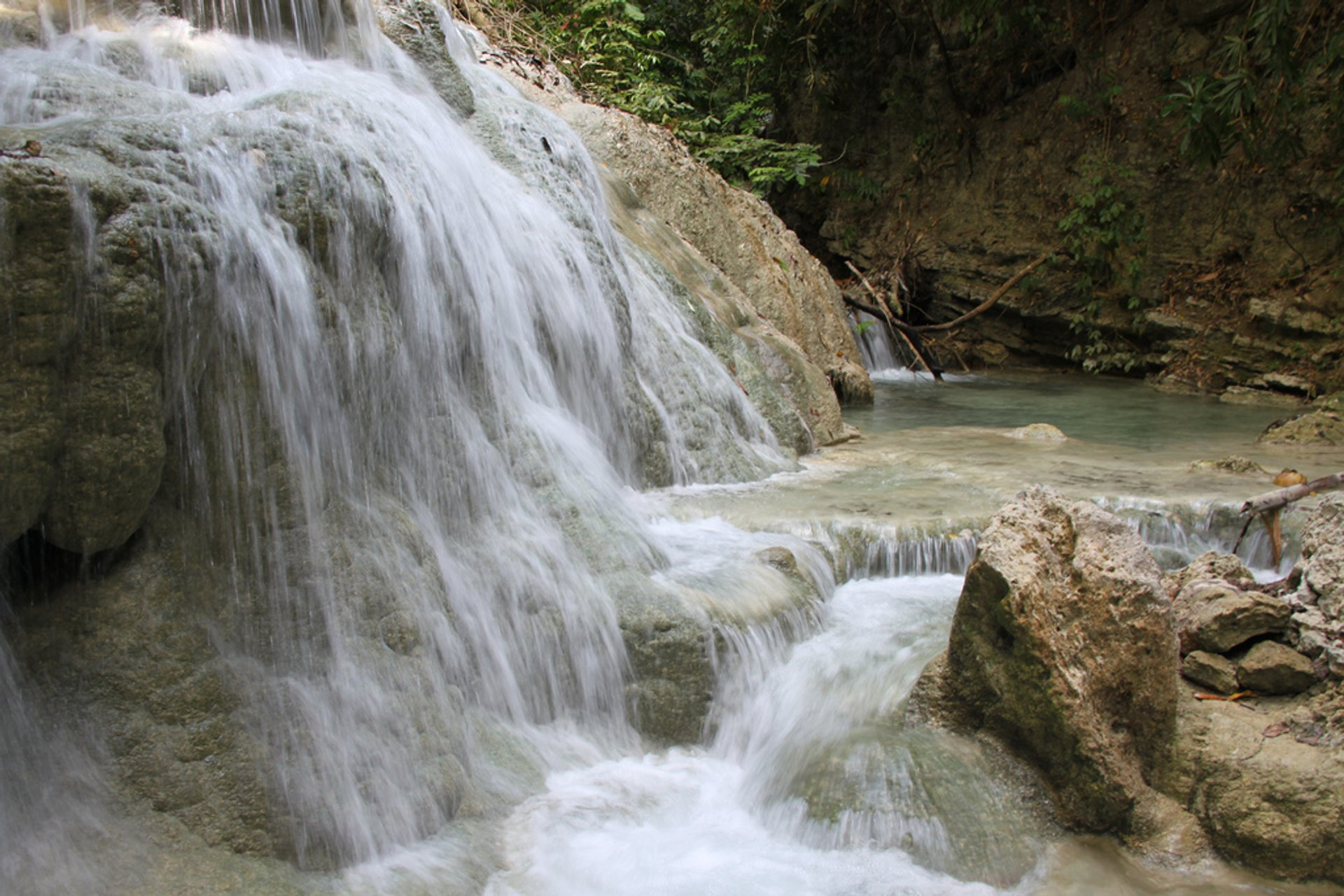 Aguinid Falls in Philippines - Best Time
