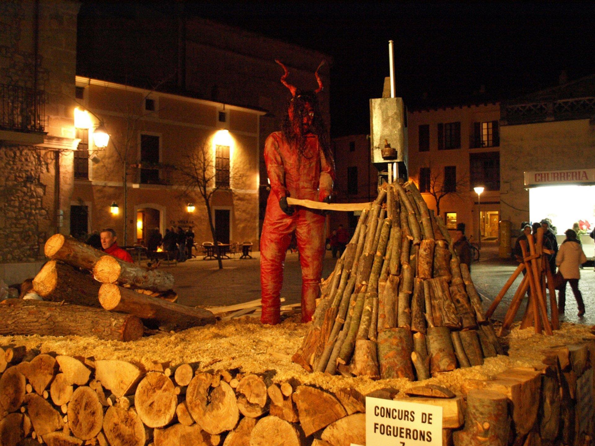 Bonfire competition in Pollença 2020
