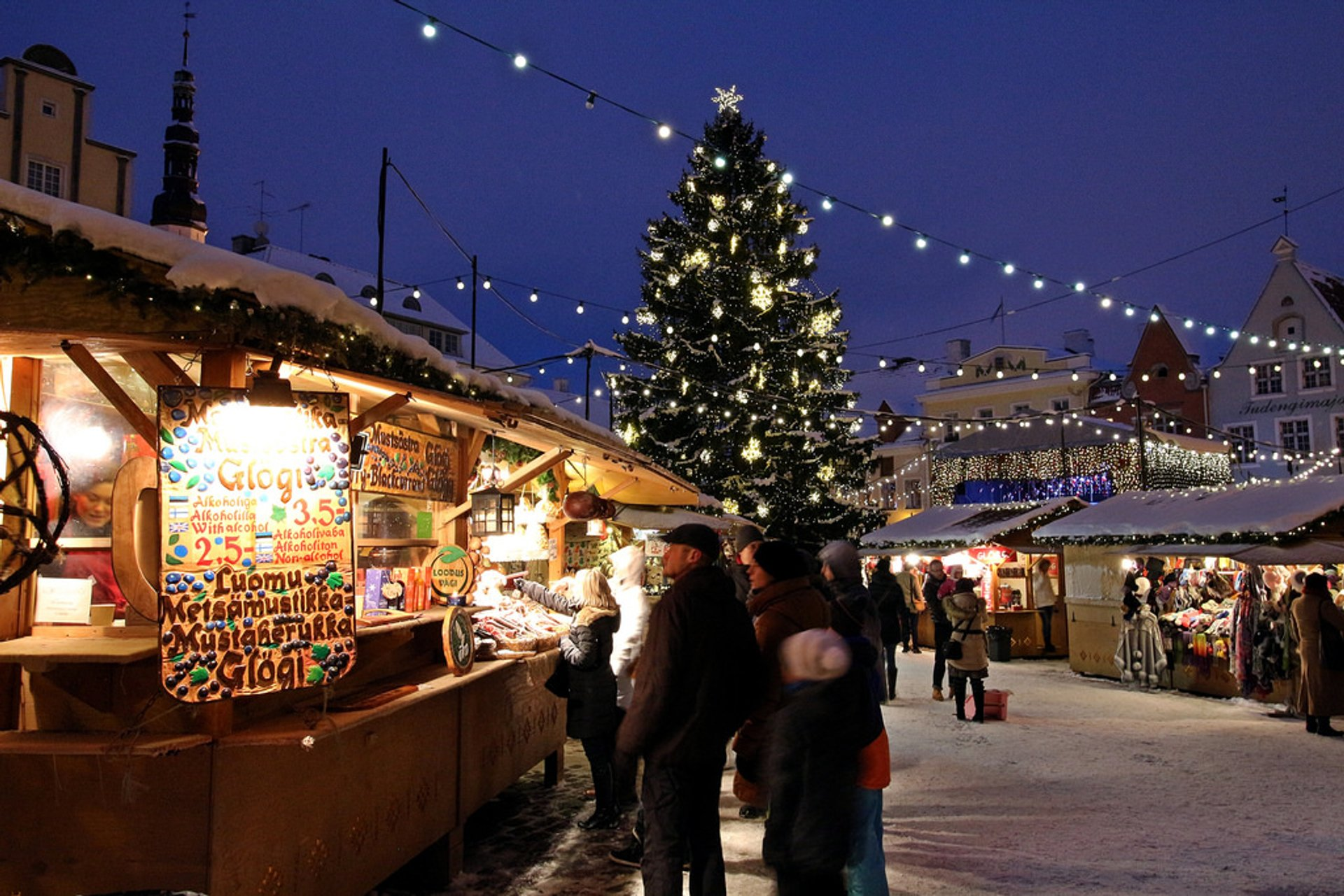 Best time to see Christmas Market in Tallinn in Estonia 2019