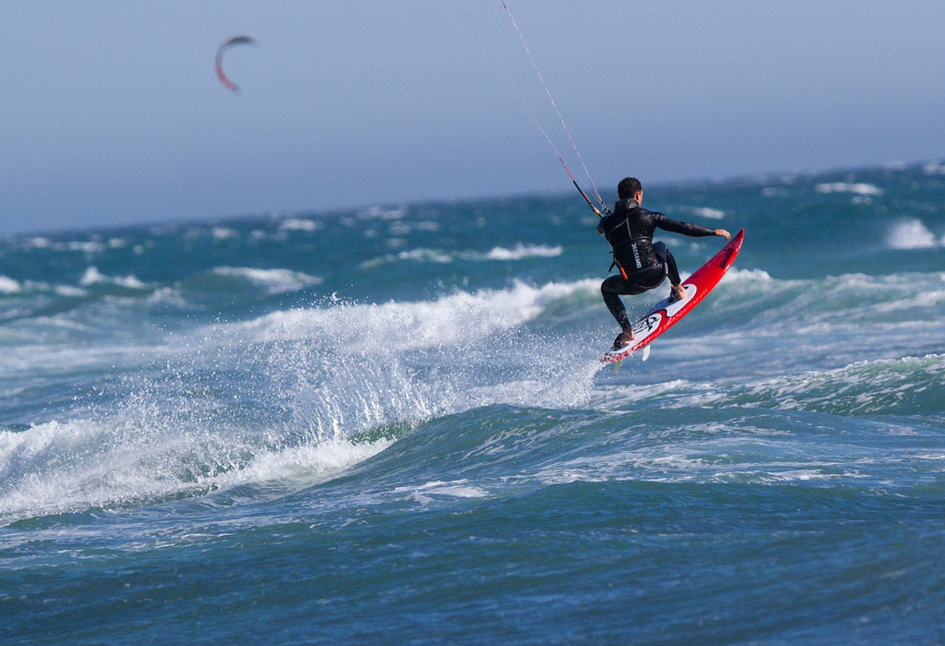 Kiteboarder at Waddell Creek 2020
