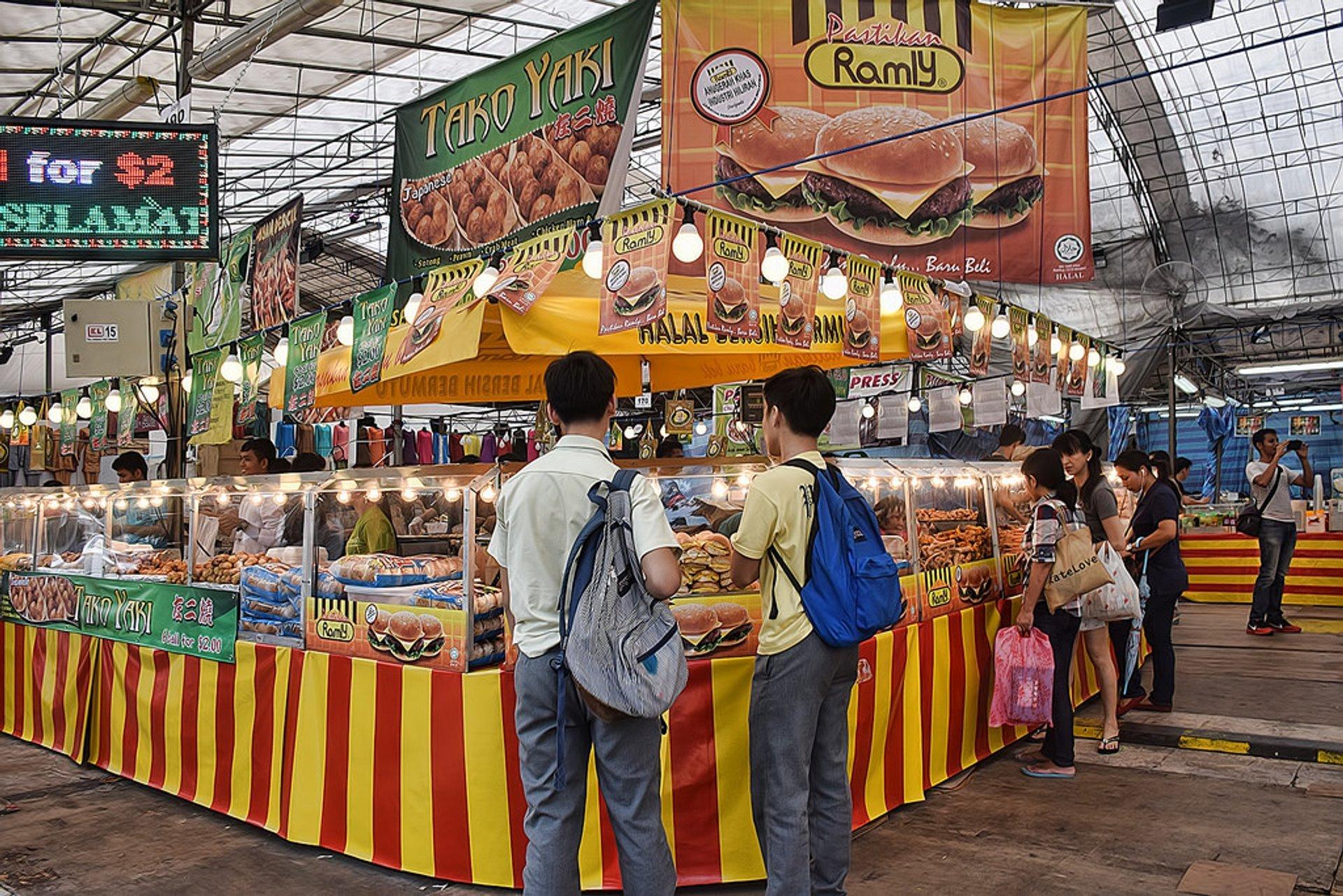 Food stalls at Geylang Seria during Hari Raya Puasa 2014. 2020