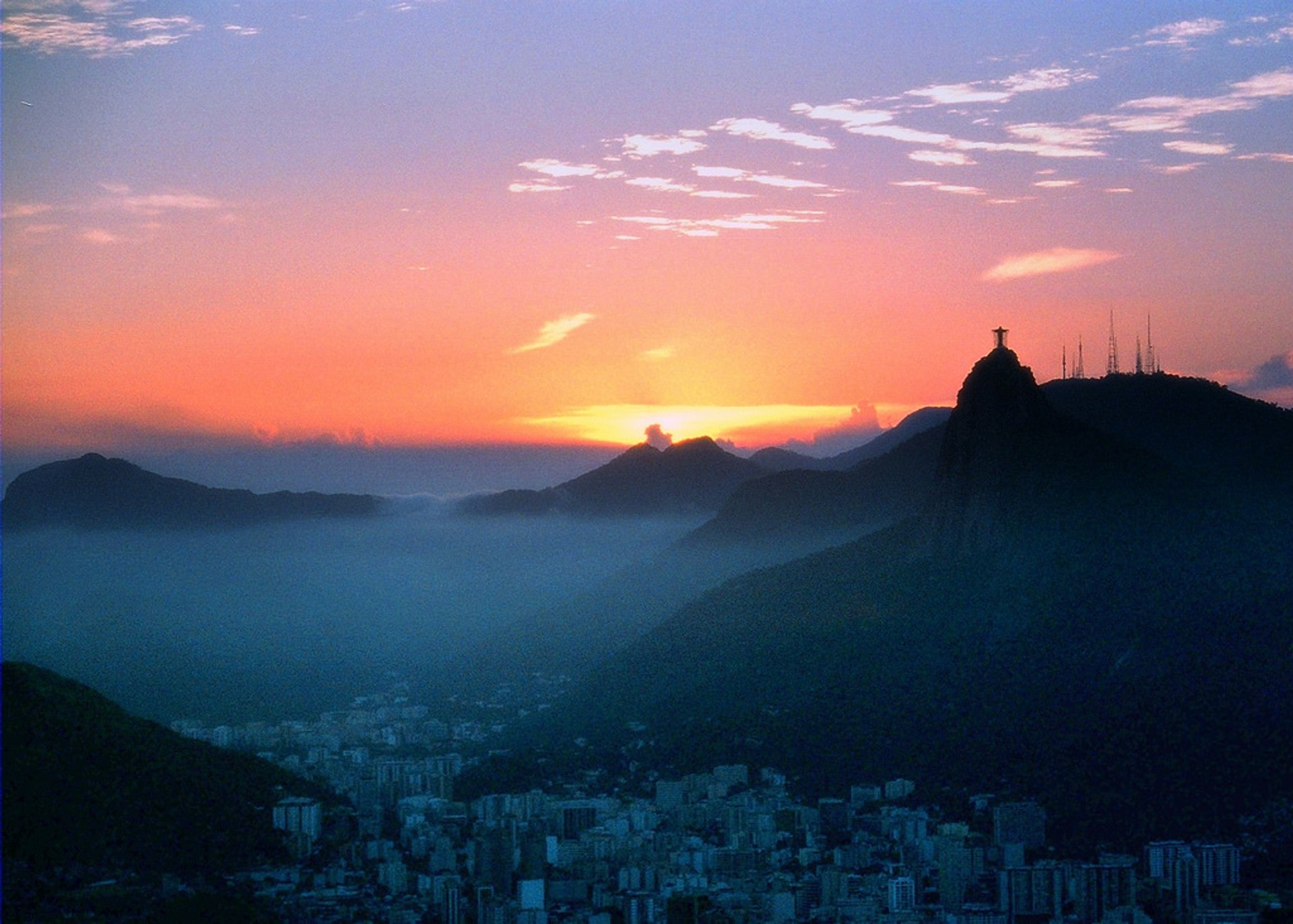 View from the Sugarloaf Mountain with Corcovado at the backdrop 2020