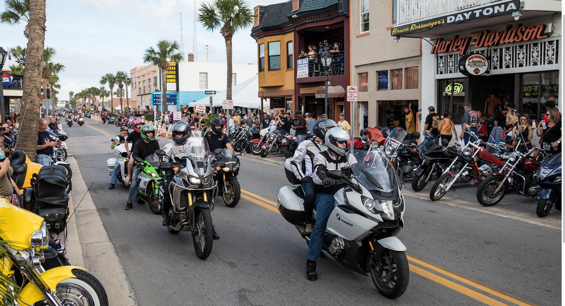 Best time to see Daytona Beach Bike Week in Florida 2020