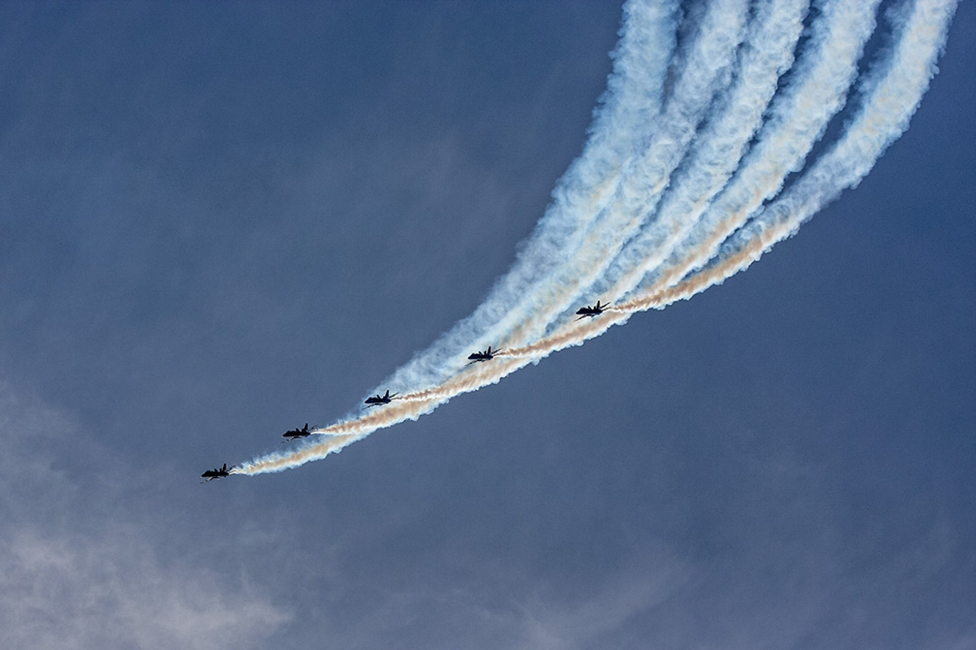 Navy Blue Angels perform during rehearsal at the Baltimore Fleet Week Air Show 2020