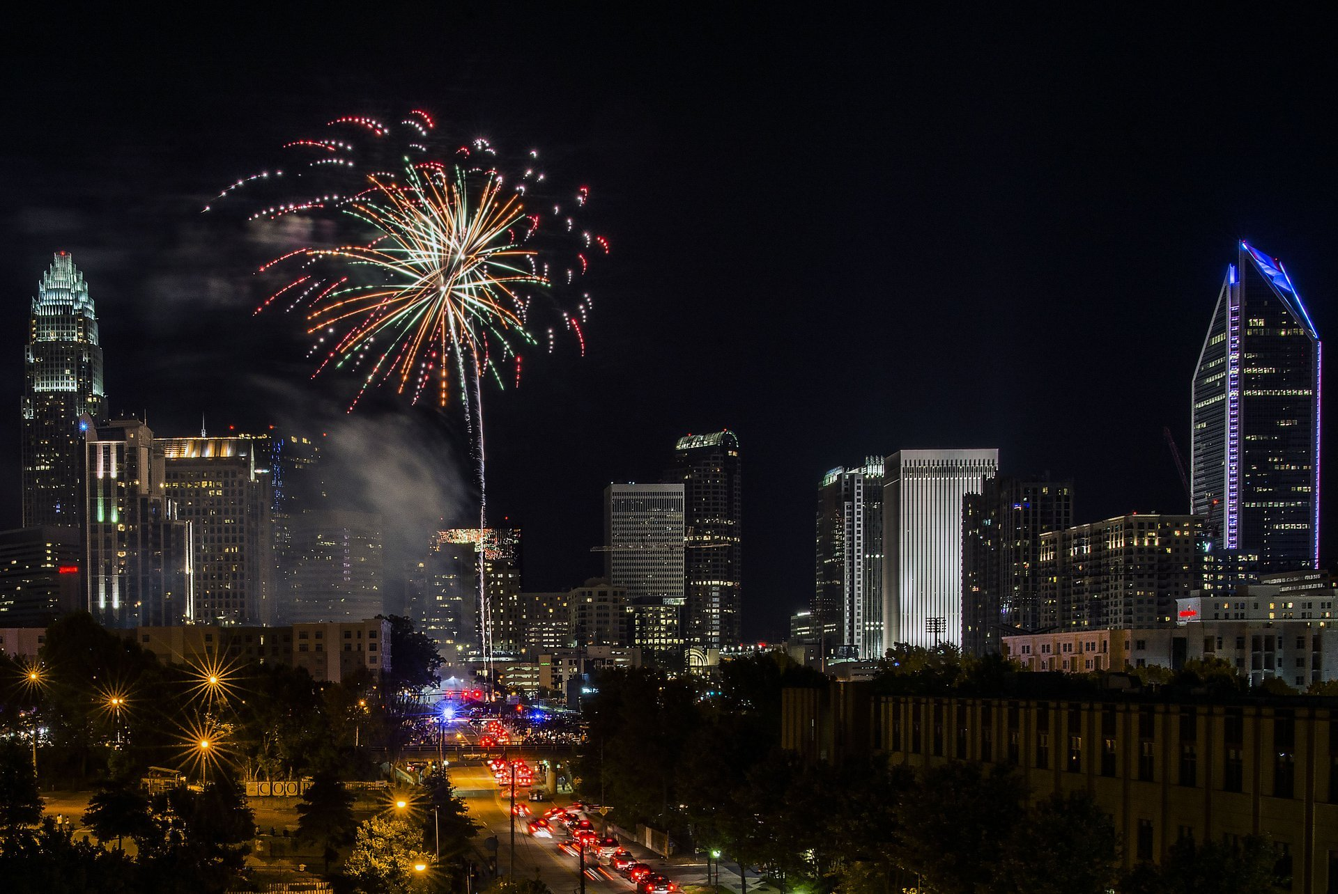 4th of July fireworks in Charlotte 2020