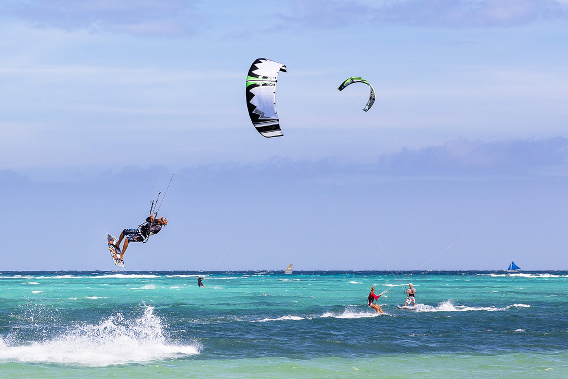 Best time for Kitesurfing on Boracay in Philippines 2020