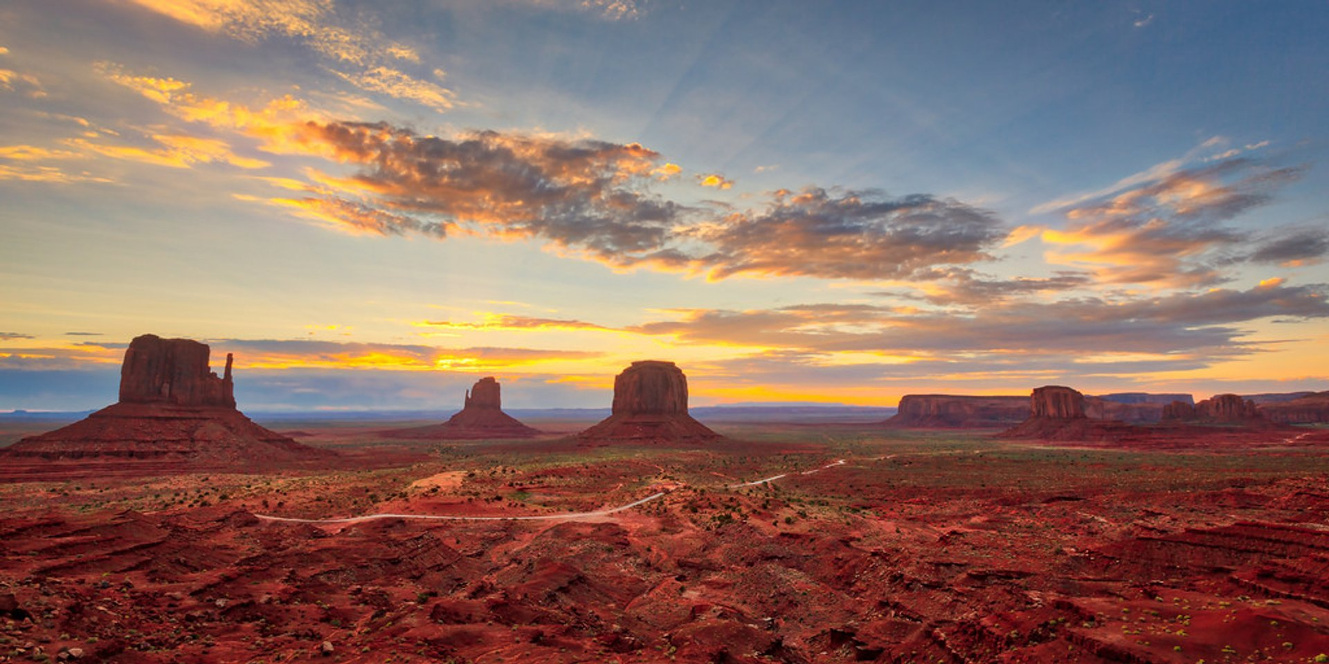 Sunrise Over Monument Valley in Utah - Best Season