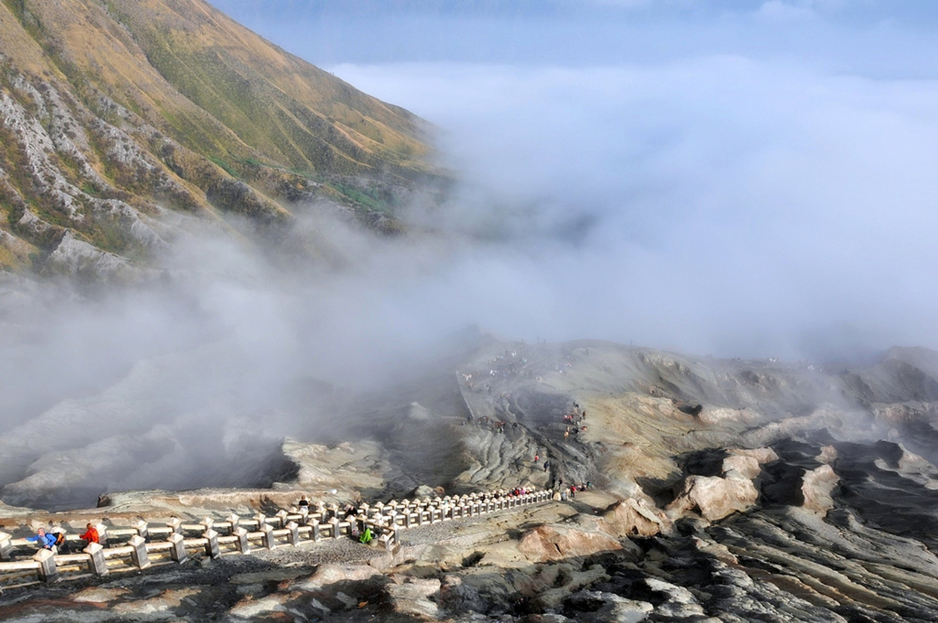The staircase that climbs to the crater's edge of Mount Bromo 2020