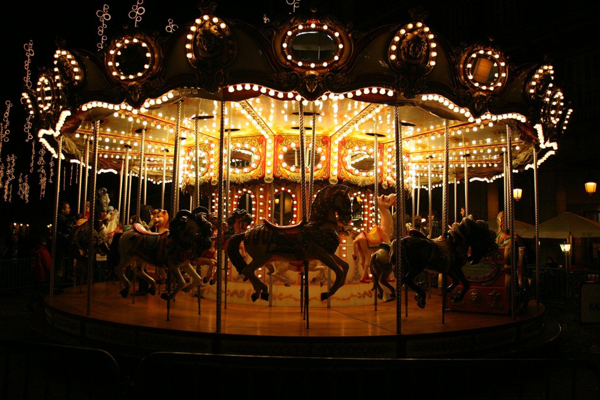 Carousel at Plaza de Santa Cruz 2020