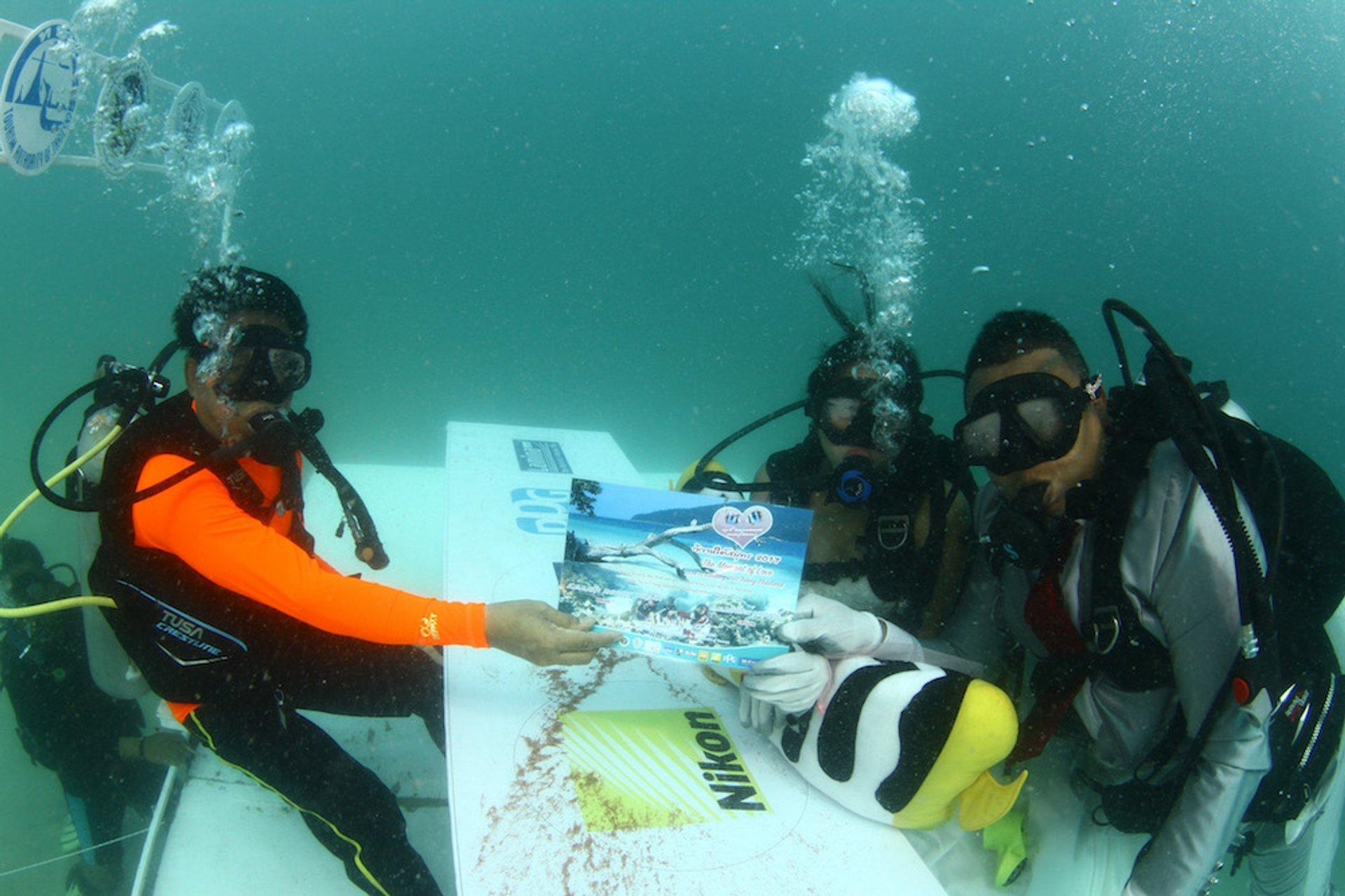 Транг подводная свадебная церемония в Таиланде 2020 - лучшее время