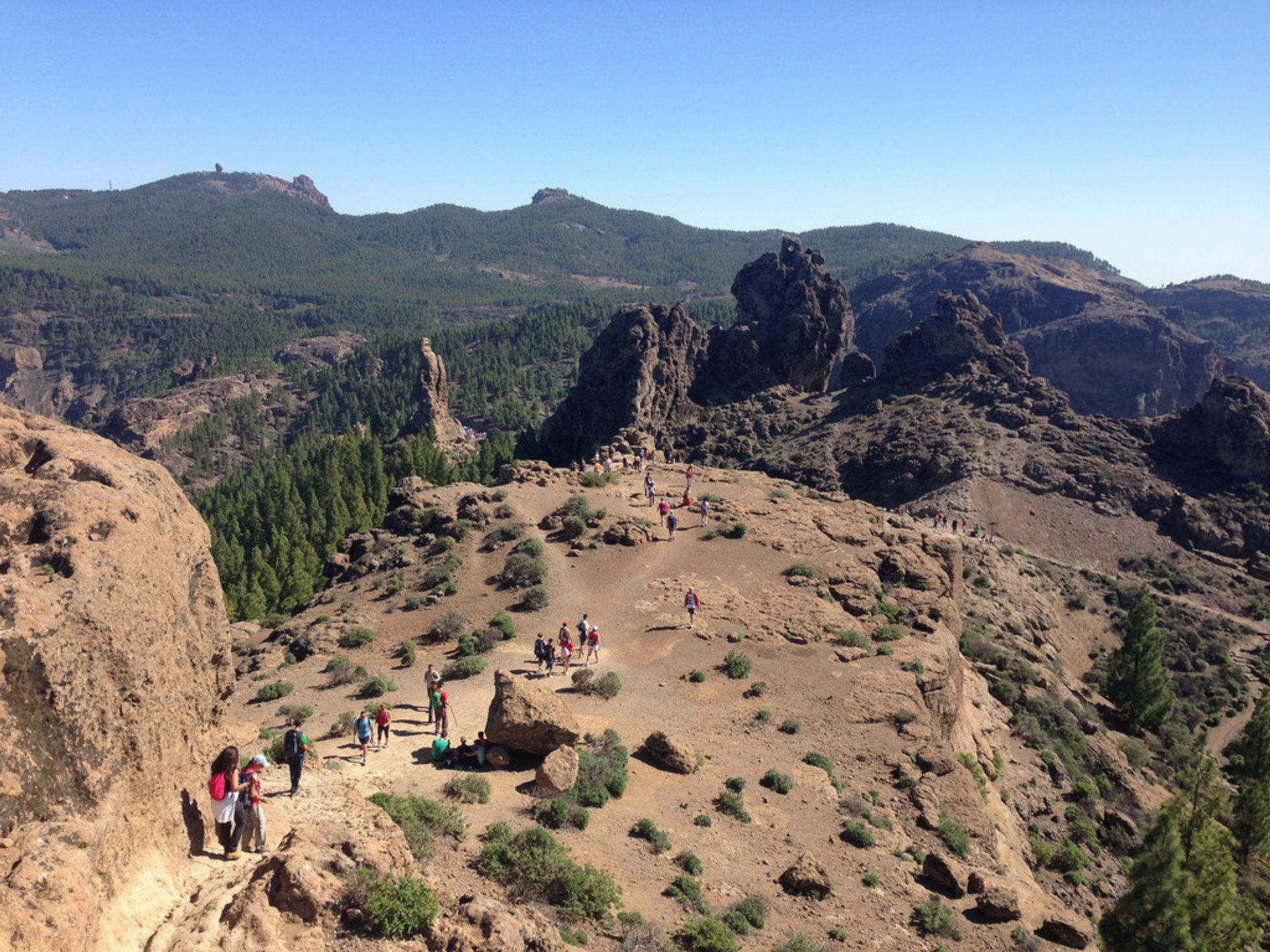 The view from Roque Nublo, Las Palmas, Spain 2020